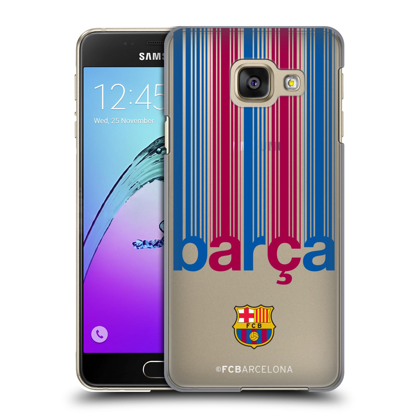 Plastové pouzdro na mobil Samsung Galaxy A3 (2016) - Head Case - FC Barcelona - Barca - čiré