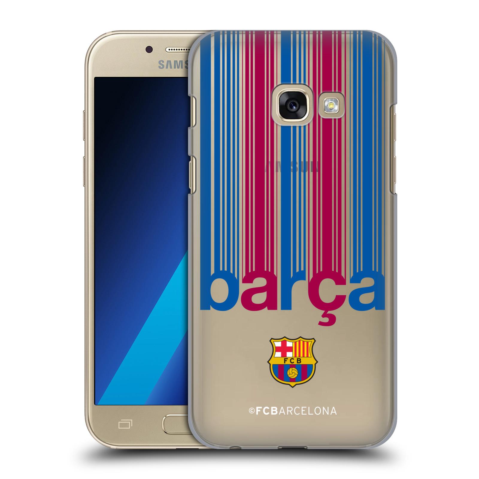 Plastové pouzdro na mobil Samsung Galaxy A3 (2017) - Head Case - FC Barcelona - Barca - čiré