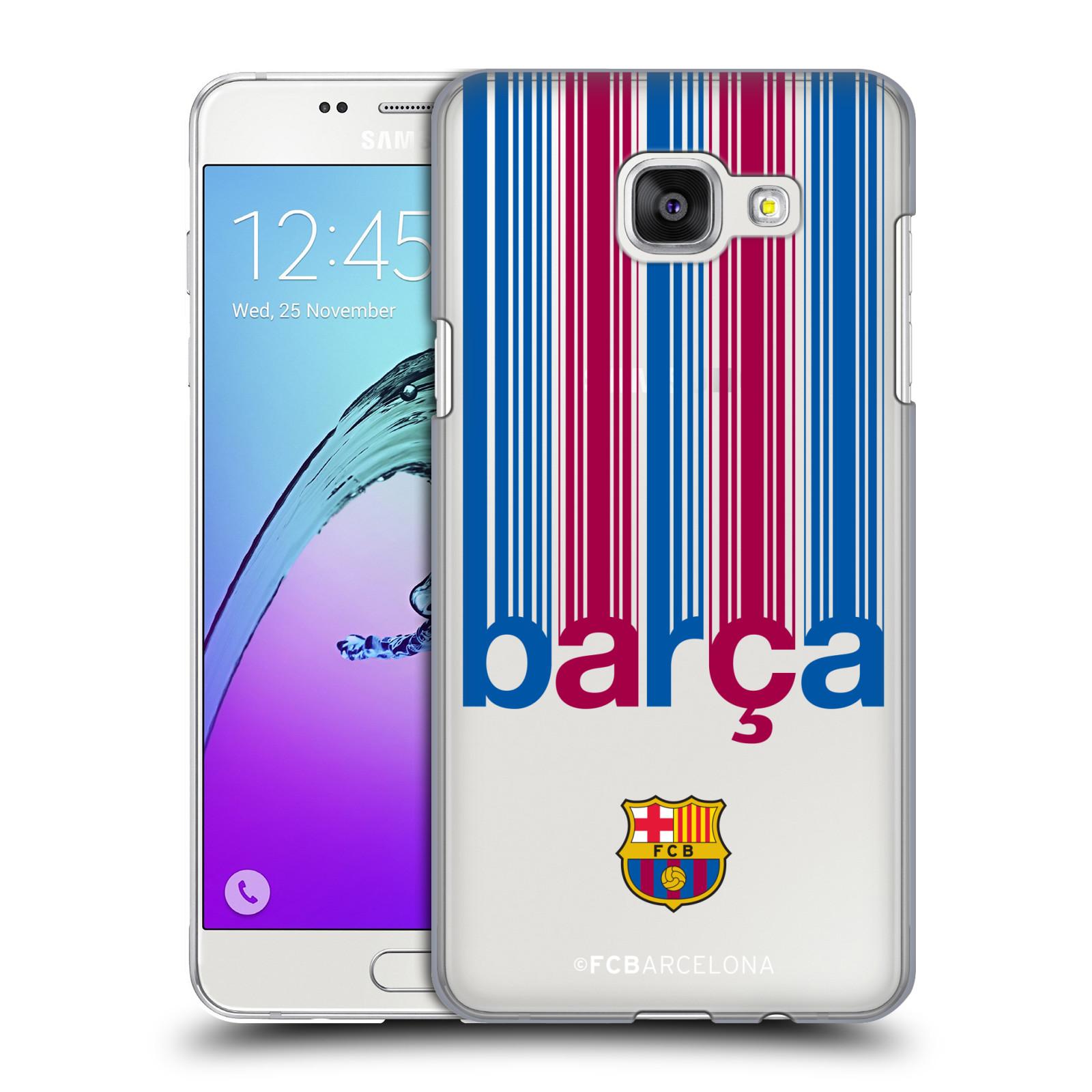 Plastové pouzdro na mobil Samsung Galaxy A5 (2016) - Head Case - FC Barcelona - Barca - čiré