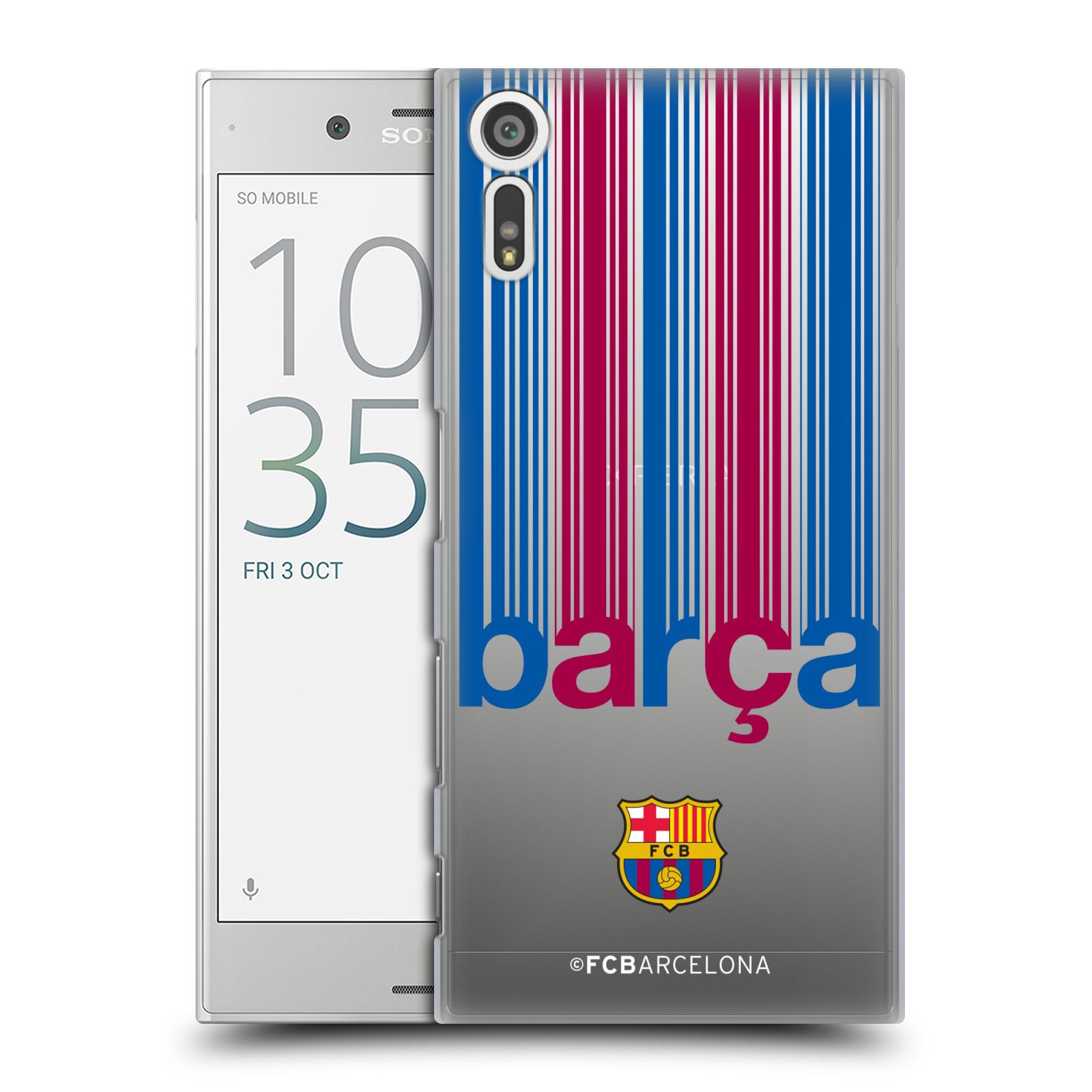 Plastové pouzdro na mobil Sony Xperia XZ - Head Case - FC Barcelona - Barca - čiré (Plastový kryt či obal na mobilní telefon s oficiálním licencovaným motivem FC Barcelona - Barca - čiré pro Sony Xperia XZ F8331 / Sony Xperia XZ Dual F8332)