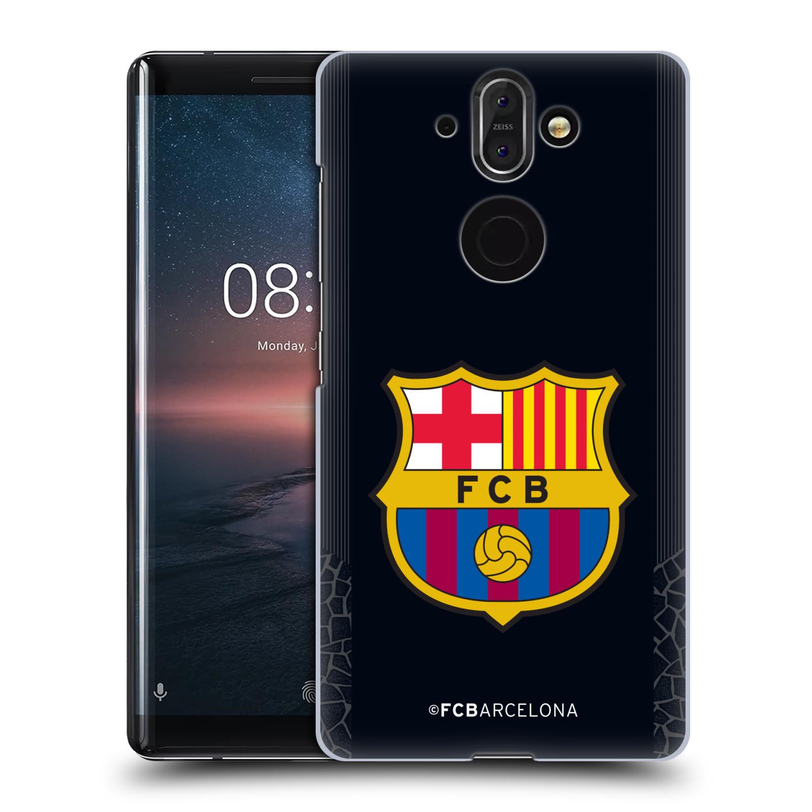 Plastové pouzdro na mobil Nokia 8 Sirocco - Head Case - FC Barcelona - Goalkeeper black logo