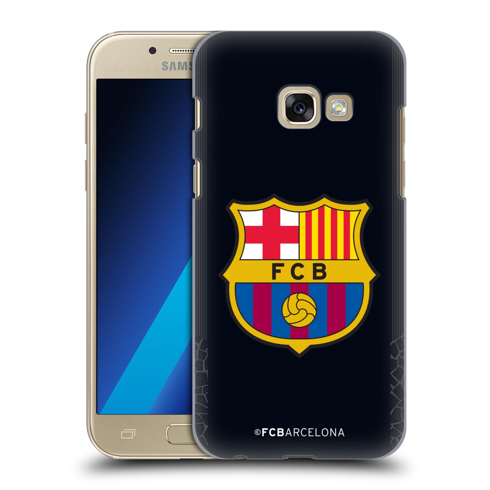 Plastové pouzdro na mobil Samsung Galaxy A3 (2017) - Head Case - FC Barcelona - Goalkeeper black logo