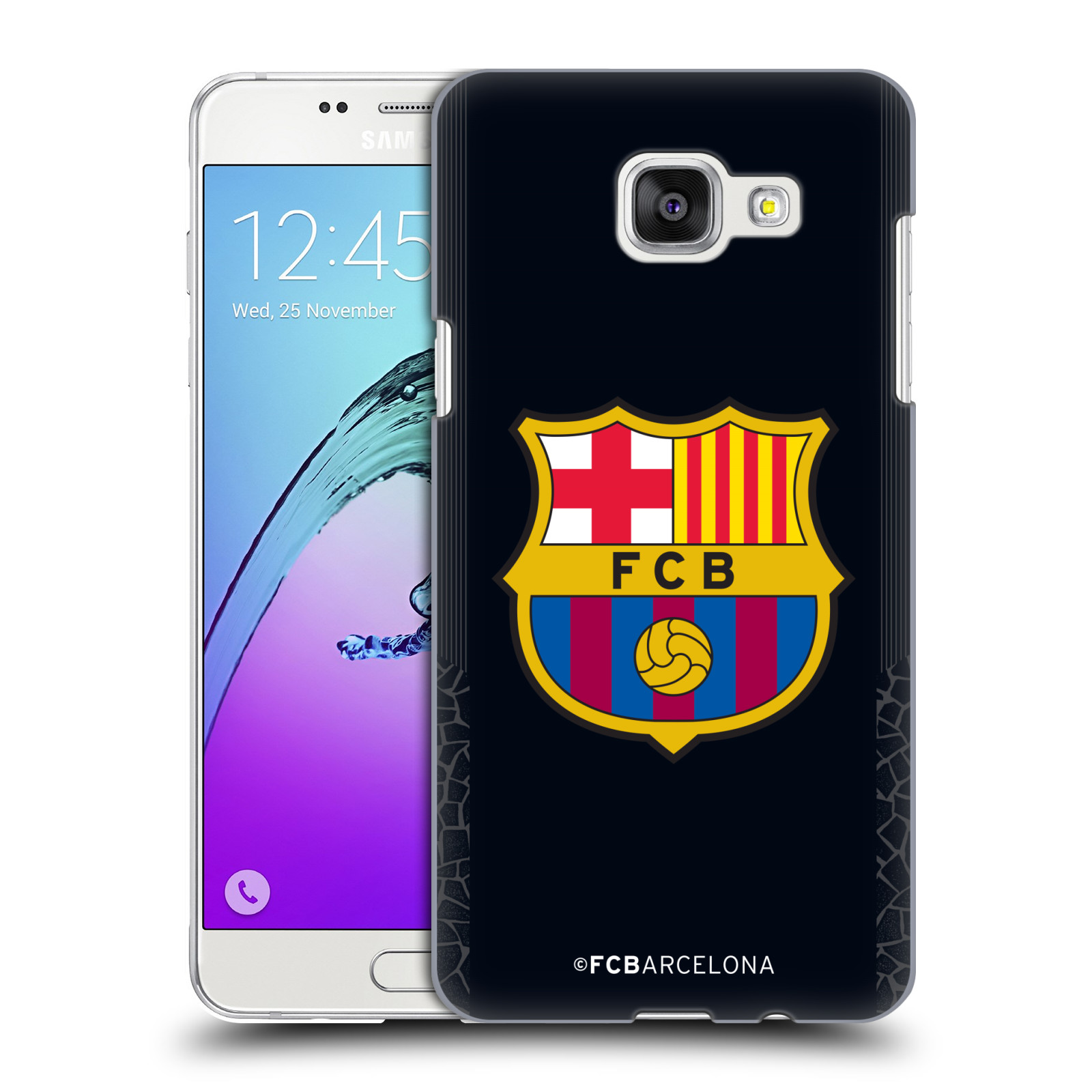Plastové pouzdro na mobil Samsung Galaxy A5 (2016) - Head Case - FC Barcelona - Goalkeeper black logo