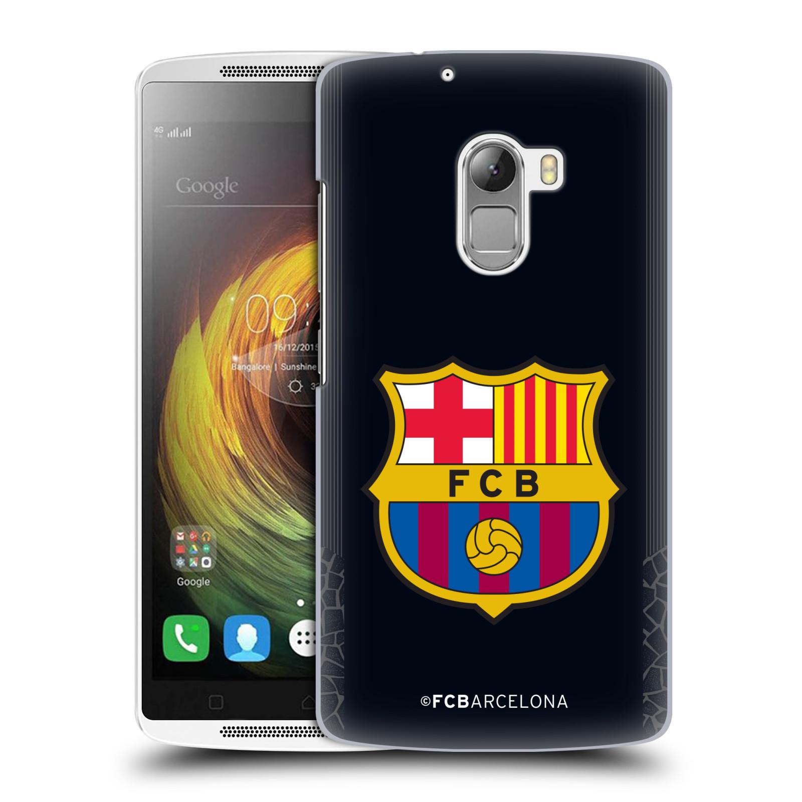 Plastové pouzdro na mobil Lenovo A7010 Head Case FC Barcelona Goalkeeper black logo