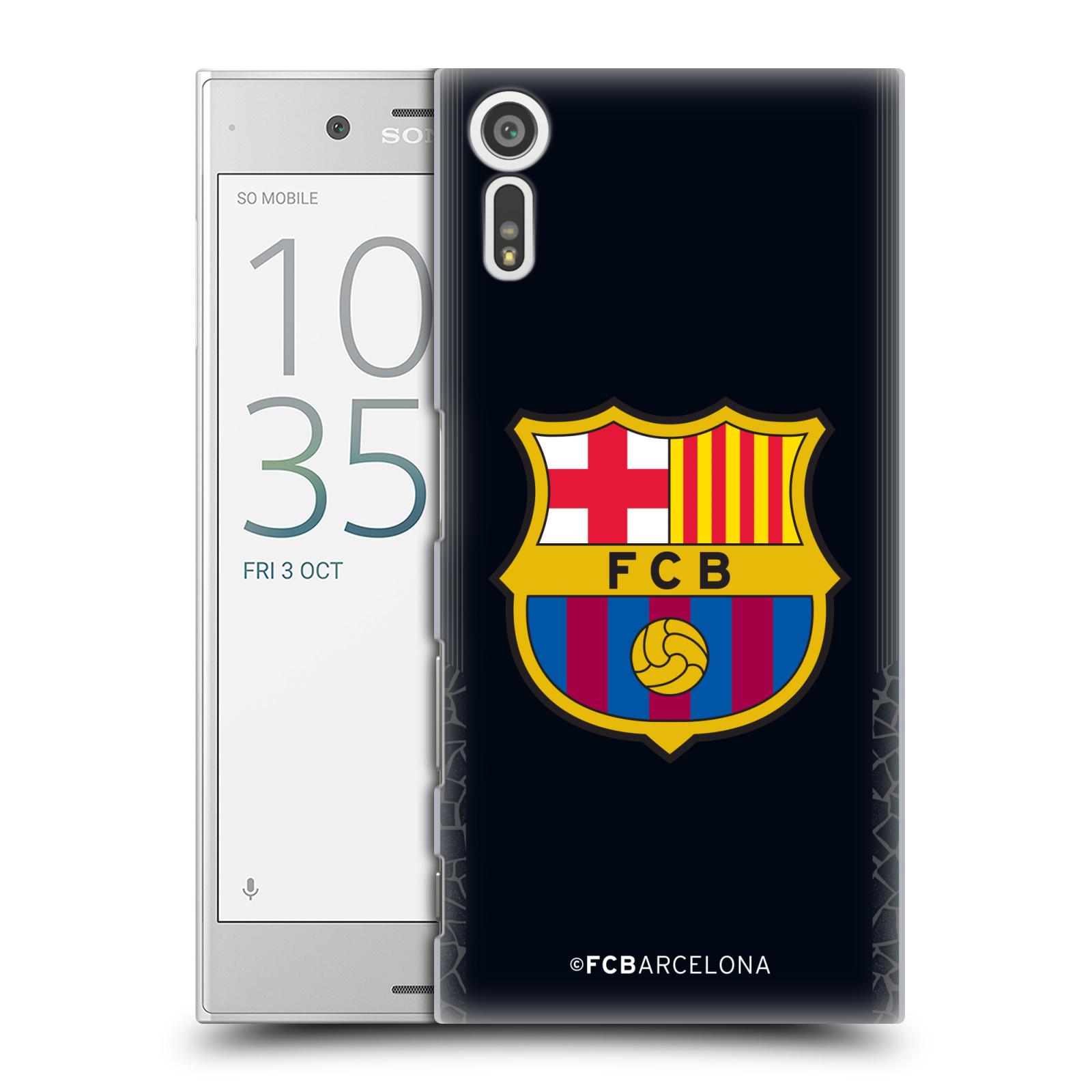 Plastové pouzdro na mobil Sony Xperia XZ - Head Case - FC Barcelona - Goalkeeper black logo (Plastový kryt či obal na mobilní telefon s oficiálním licencovaným motivem FC Barcelona - Goalkeeper black logo pro Sony Xperia XZ F8331 / Sony Xperia XZ Dual F83