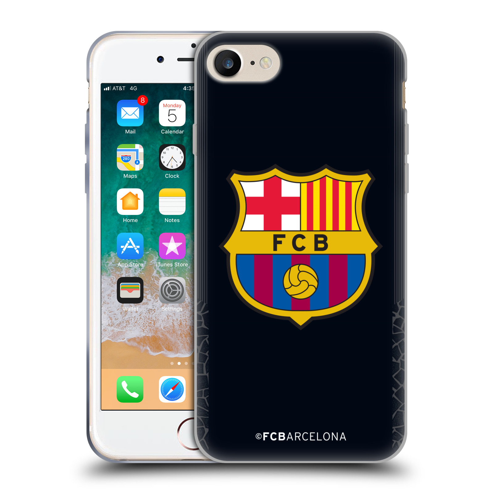 Silikonové pouzdro na mobil Apple iPhone 7 - Head Case - FC Barcelona -  Goalkeeper black ed013518099