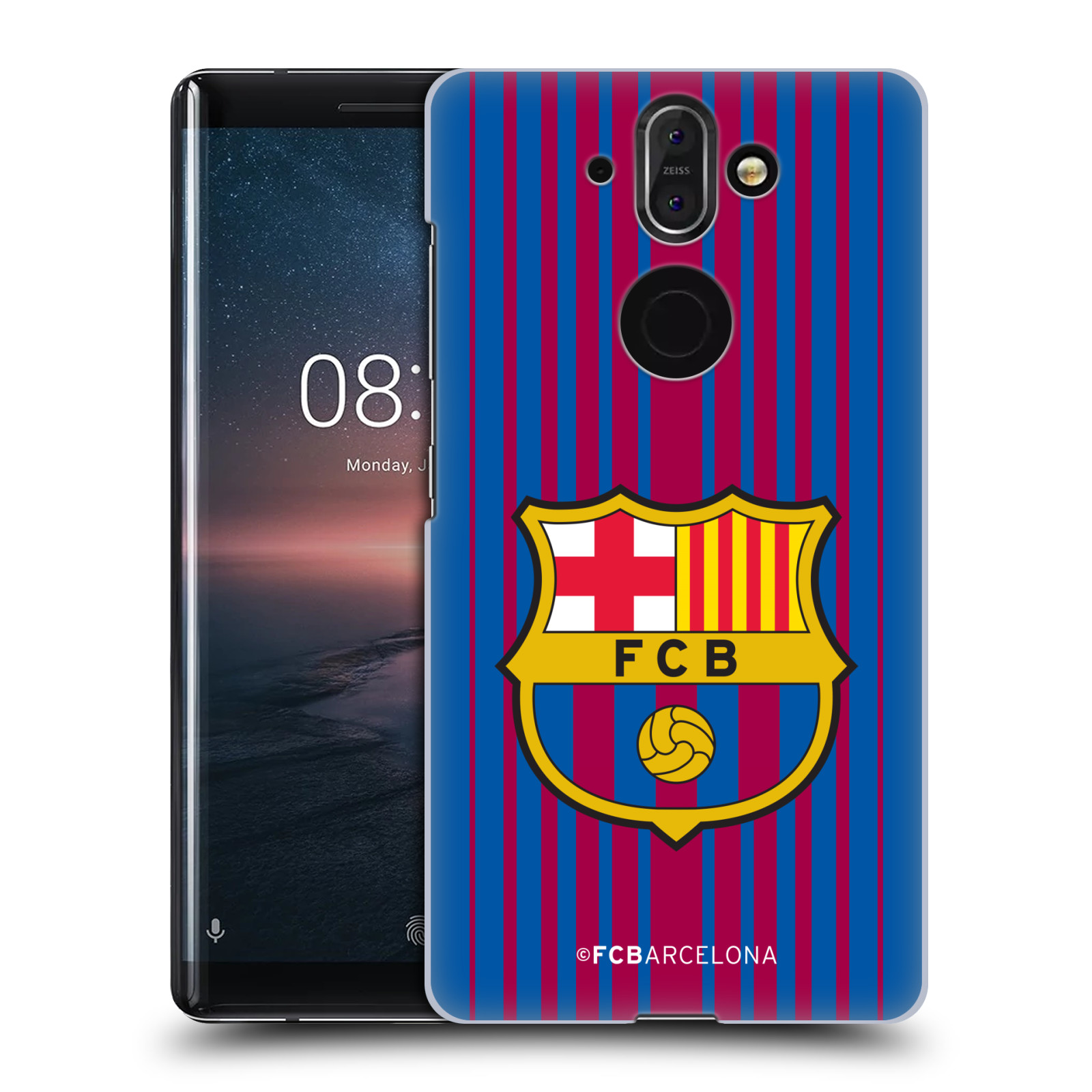 Plastové pouzdro na mobil Nokia 8 Sirocco - Head Case - FC Barcelona - Logo domácí