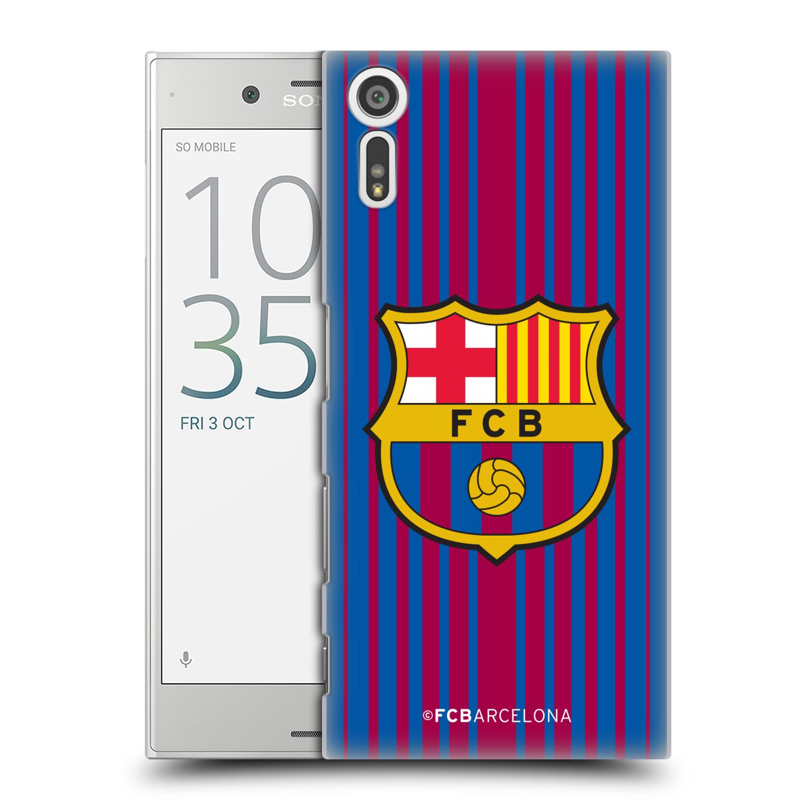 Plastové pouzdro na mobil Sony Xperia XZ - Head Case - FC Barcelona - Logo domácí (Plastový kryt či obal na mobilní telefon s oficiálním licencovaným motivem FC Barcelona - Logo domácí pro Sony Xperia XZ F8331 / Sony Xperia XZ Dual F8332)