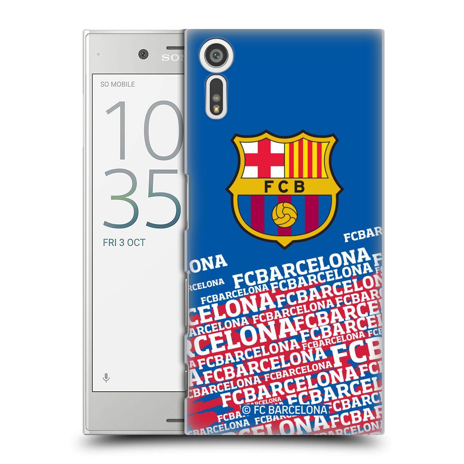 Plastové pouzdro na mobil Sony Xperia XZ - Head Case - FC Barcelona - Impact (Plastový kryt či obal na mobilní telefon s oficiálním licencovaným motivem FC Barcelona - Impact pro Sony Xperia XZ F8331 / Sony Xperia XZ Dual F8332)