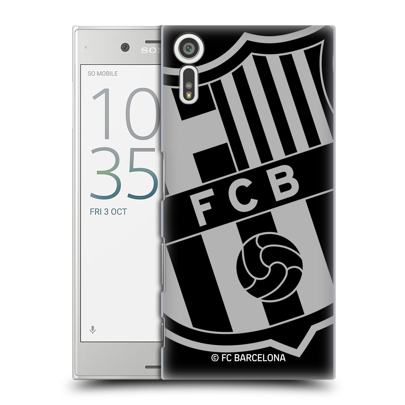 Plastové pouzdro na mobil Sony Xperia XZ - Head Case - FC Barcelona - Velké logo (Plastový kryt či obal na mobilní telefon s oficiálním licencovaným motivem FC Barcelona - Velké logo pro Sony Xperia XZ F8331 / Sony Xperia XZ Dual F8332)