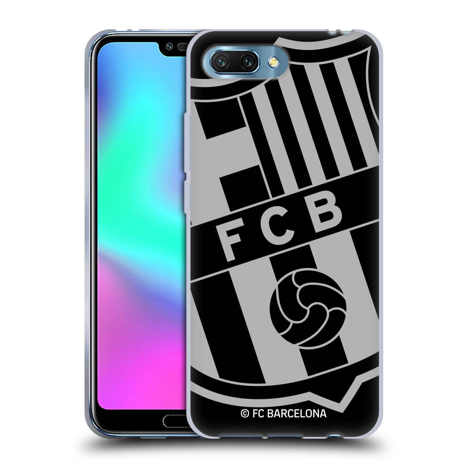Silikonové pouzdro na mobil Honor 10 - Head Case - FC Barcelona - Velké logo