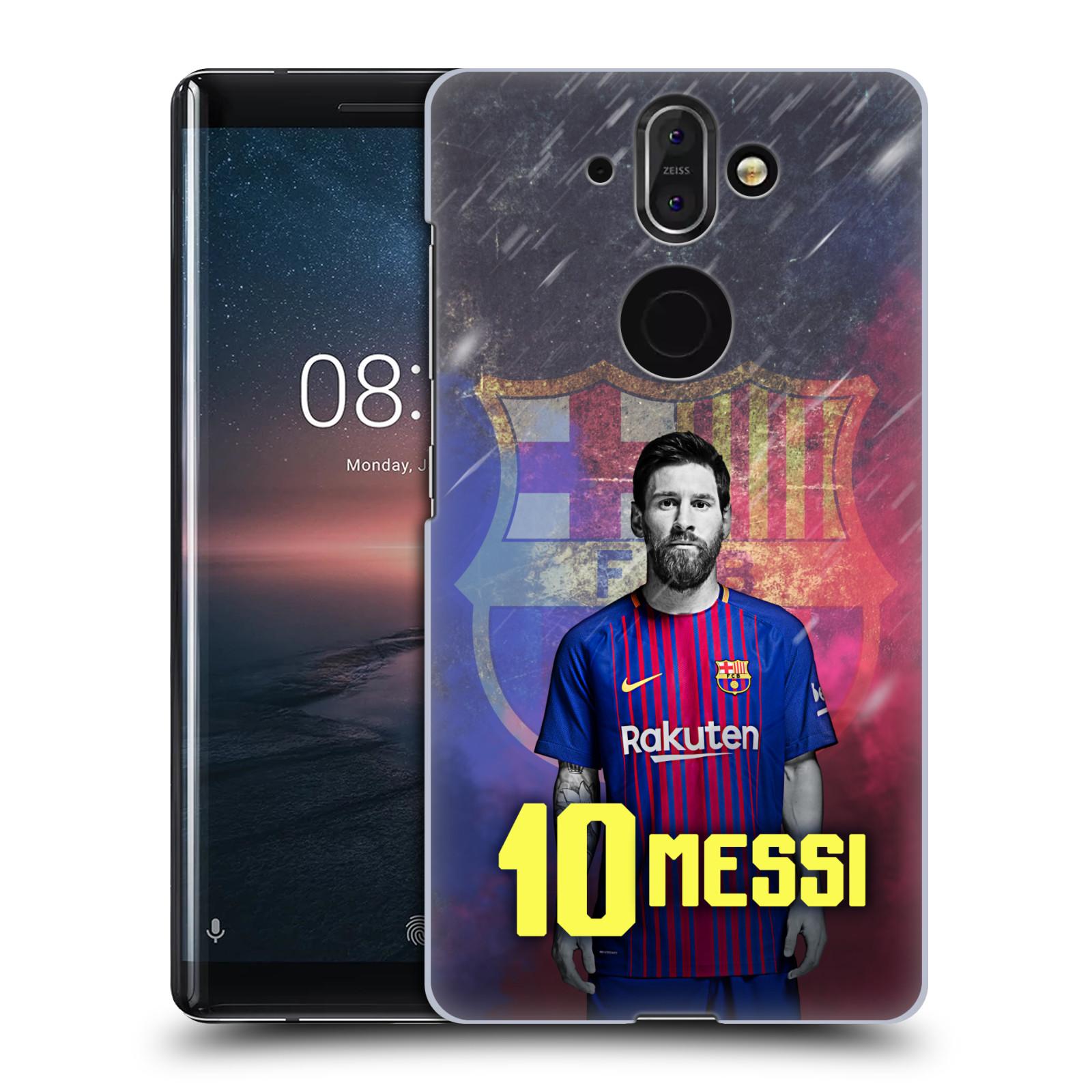 Plastové pouzdro na mobil Nokia 8 Sirocco - Head Case - FC Barcelona - Lionel Messi 10
