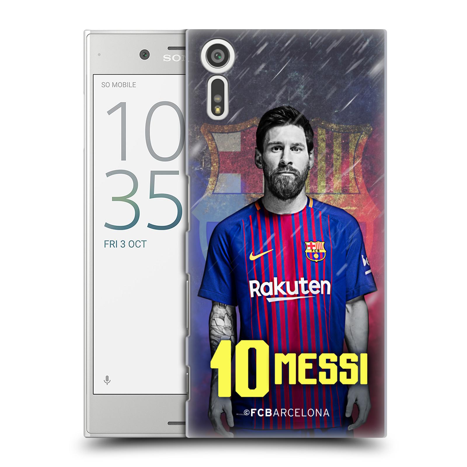 Plastové pouzdro na mobil Sony Xperia XZ - Head Case - FC Barcelona - Lionel Messi 10 (Plastový kryt či obal na mobilní telefon s oficiálním licencovaným motivem FC Barcelona - Lionel Messi 10 pro Sony Xperia XZ F8331 / Sony Xperia XZ Dual F8332)