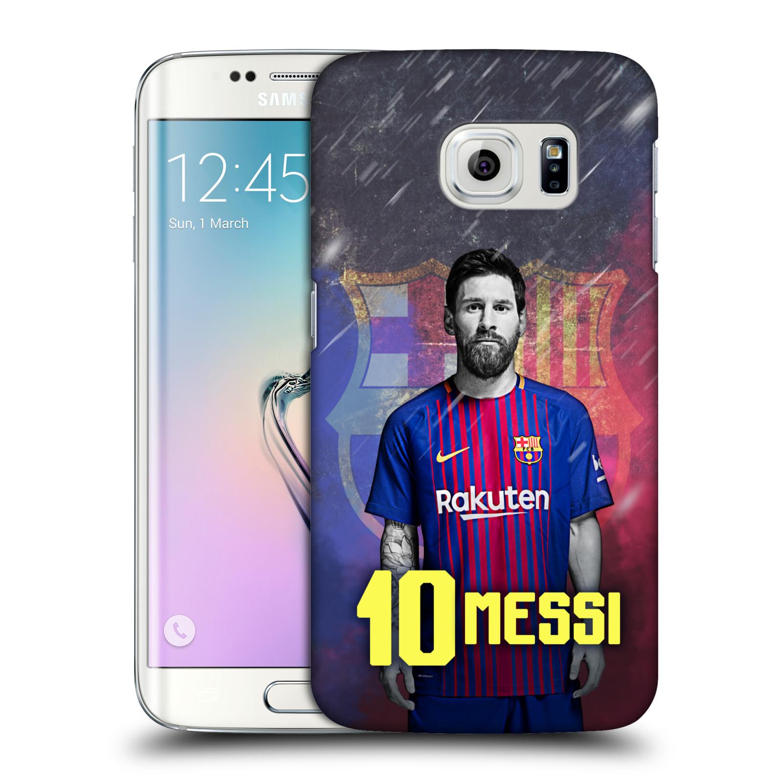 Plastové pouzdro na mobil Samsung Galaxy S6 Edge - Head Case - FC Barcelona - Lionel Messi 10