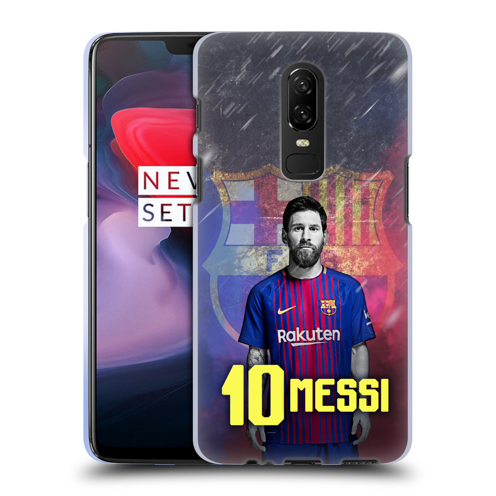 Silikonové pouzdro na mobil OnePlus 6 - Head Case - FC Barcelona - Lionel Messi 10