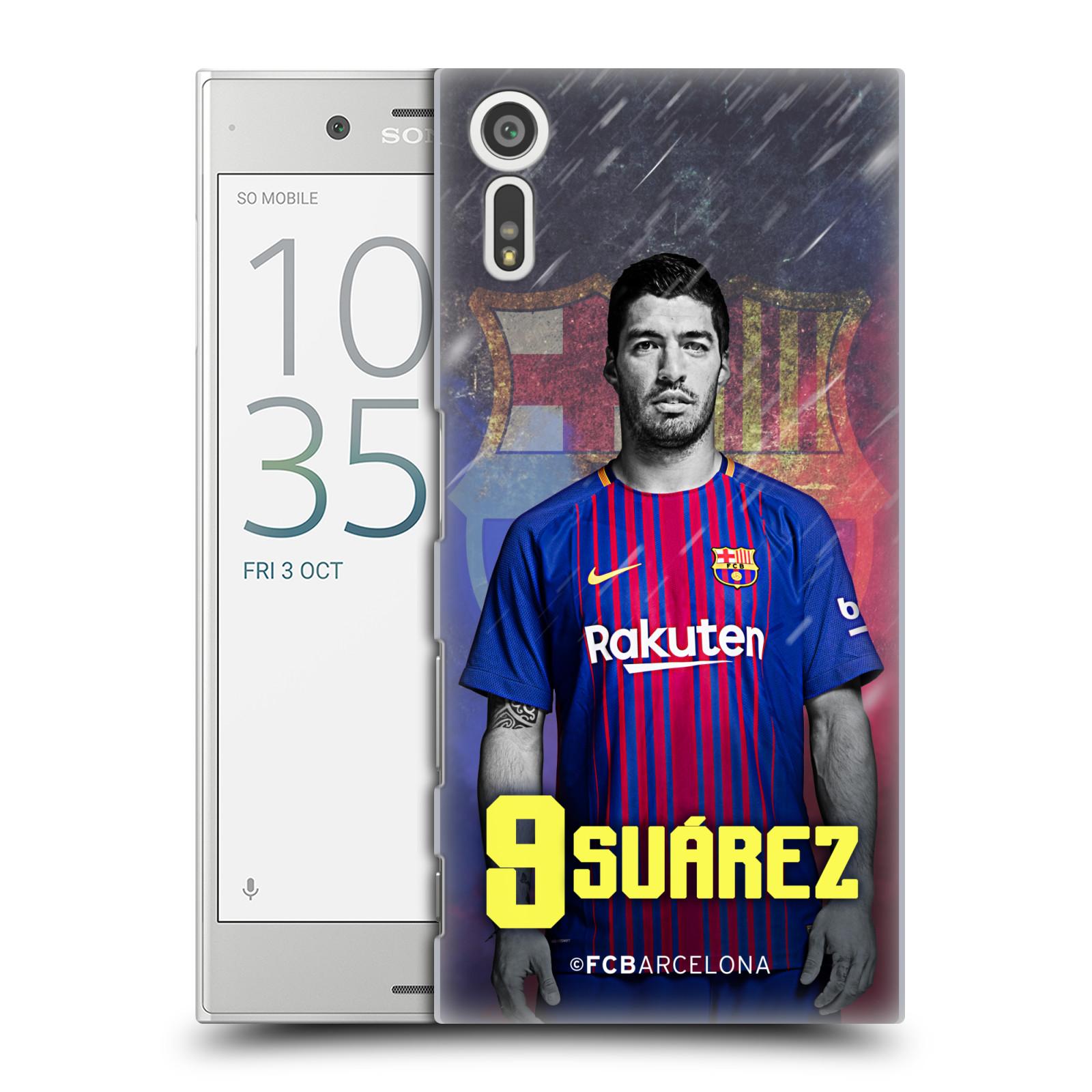 Plastové pouzdro na mobil Sony Xperia XZ - Head Case - FC Barcelona - Luis Suárez 9 (Plastový kryt či obal na mobilní telefon s oficiálním licencovaným motivem FC Barcelona - Luis Suárez 9 pro Sony Xperia XZ F8331 / Sony Xperia XZ Dual F8332)