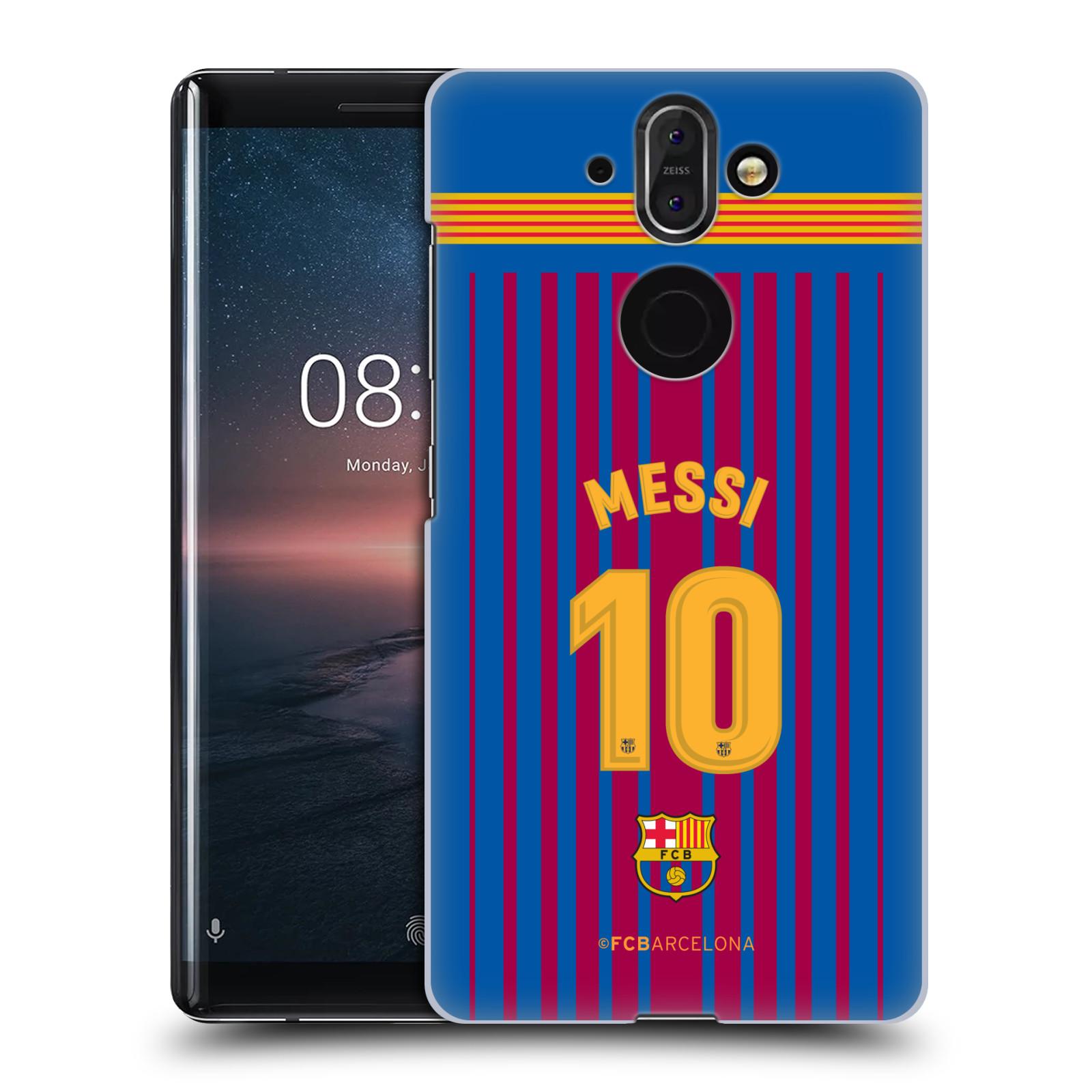 Plastové pouzdro na mobil Nokia 8 Sirocco - Head Case - FC Barcelona - Dres Messi