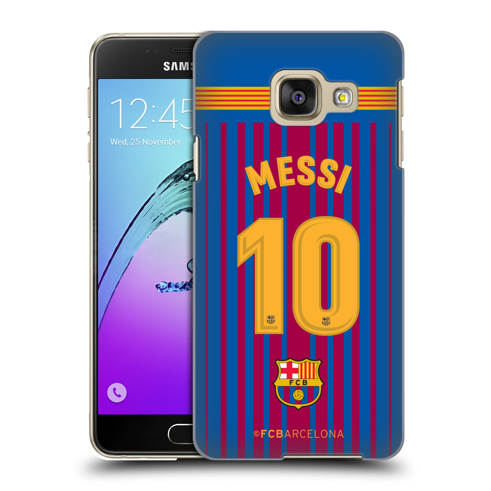 Plastové pouzdro na mobil Samsung Galaxy A3 (2016) - Head Case - FC Barcelona - Dres Messi