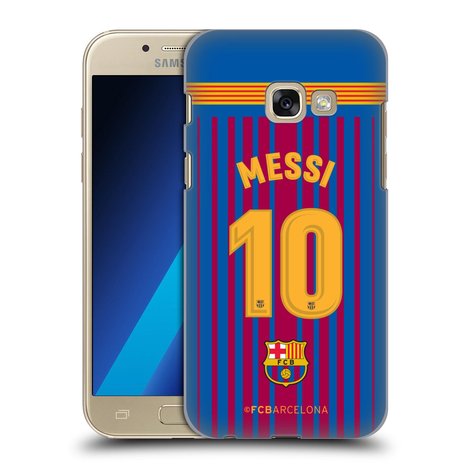 Plastové pouzdro na mobil Samsung Galaxy A3 (2017) - Head Case - FC Barcelona - Dres Messi