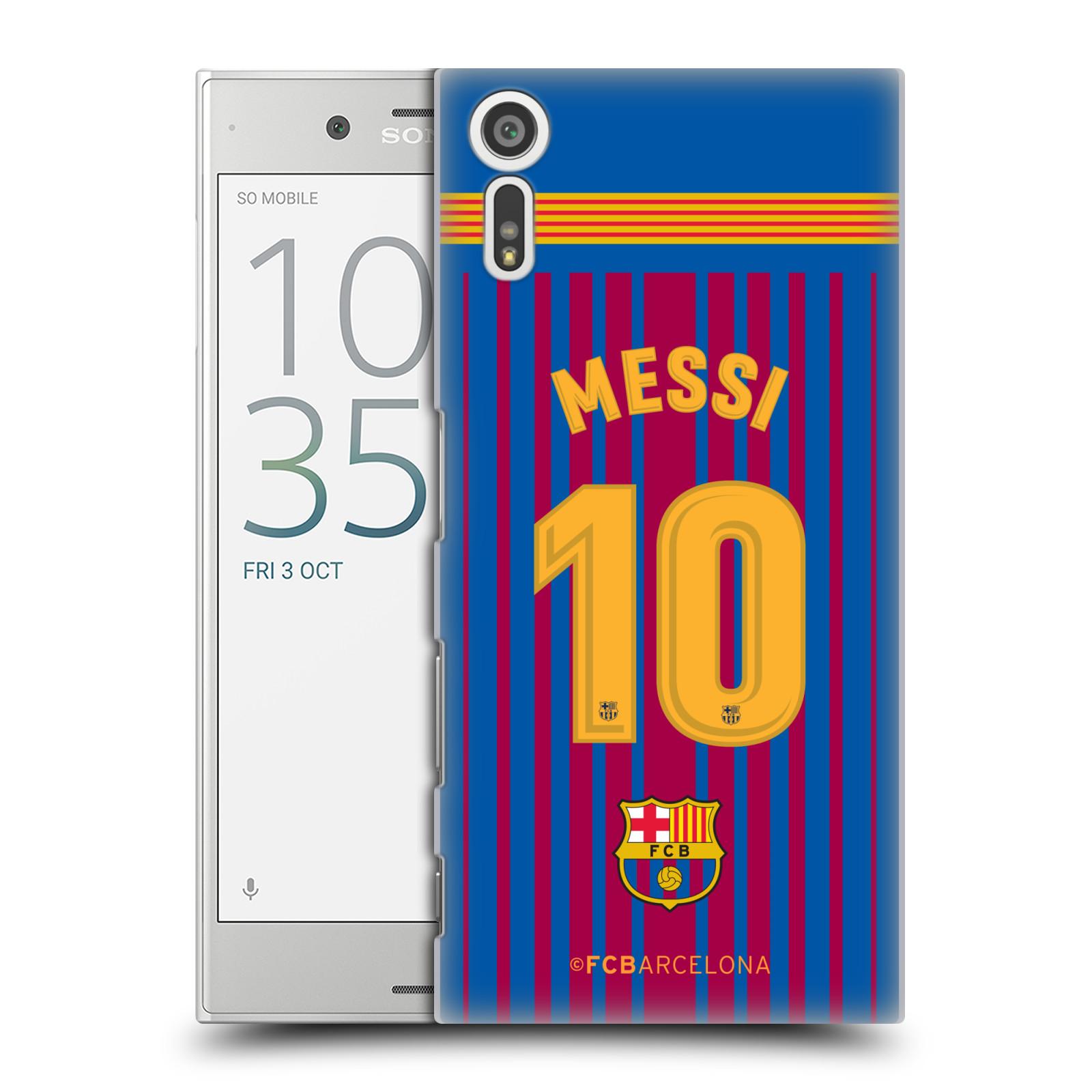 Plastové pouzdro na mobil Sony Xperia XZ - Head Case - FC Barcelona - Dres Messi (Plastový kryt či obal na mobilní telefon s oficiálním licencovaným motivem FC Barcelona - Dres Messi pro Sony Xperia XZ F8331 / Sony Xperia XZ Dual F8332)