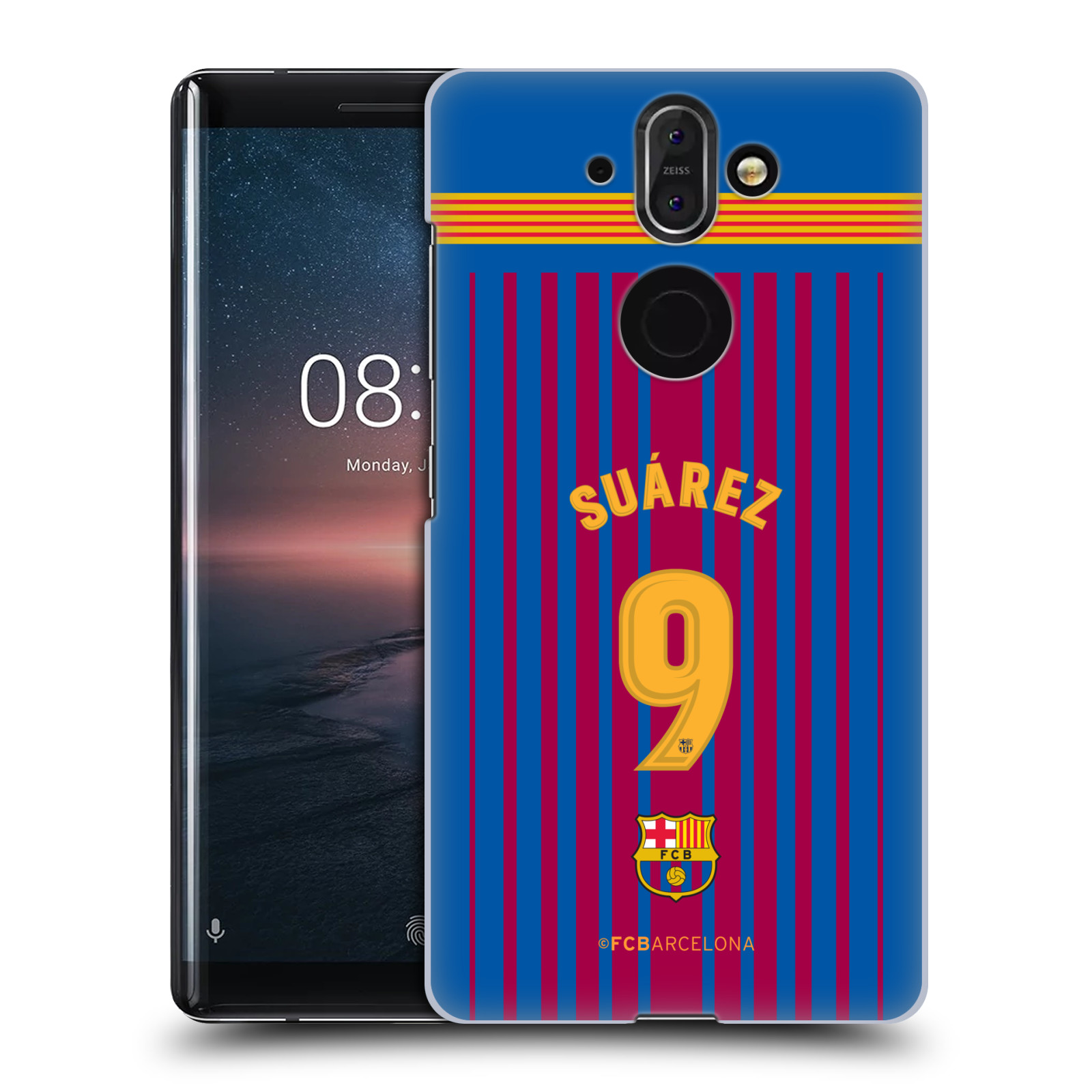 Plastové pouzdro na mobil Nokia 8 Sirocco - Head Case - FC Barcelona - Dres Suárez
