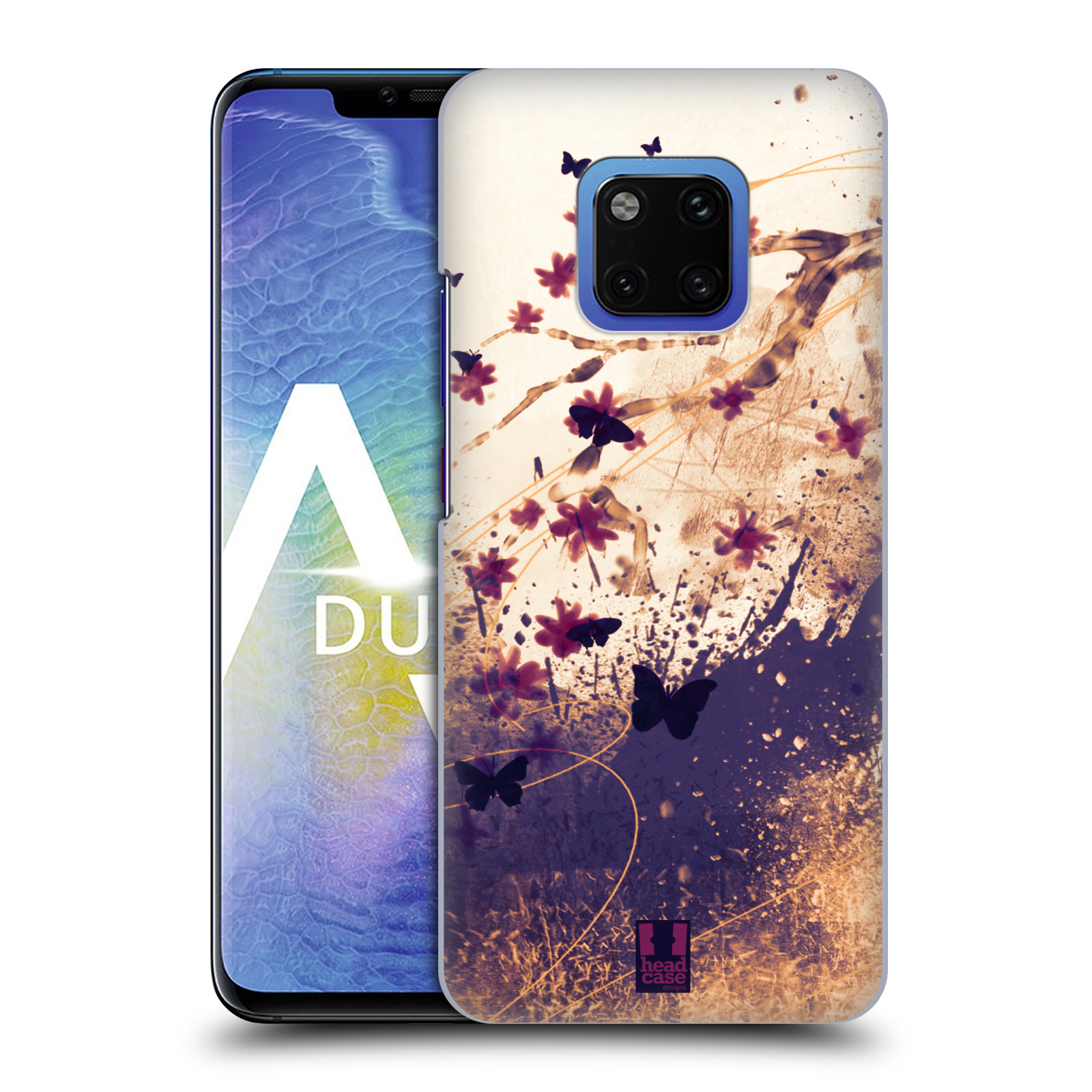 Plastové pouzdro na mobil Huawei Mate 20 Pro - Head Case - MOTÝLCI (Plastový kryt, pouzdro, obal na mobilní telefon Huawei Mate 20 Pro Dual Sim s motivem MOTÝLCI)