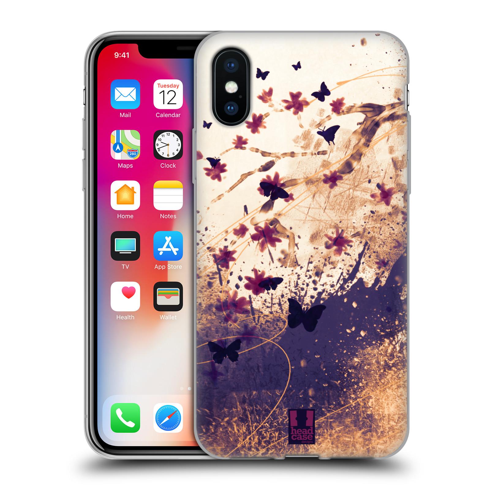 Silikonové pouzdro na mobil Apple iPhone XS - Head Case - MOTÝLCI