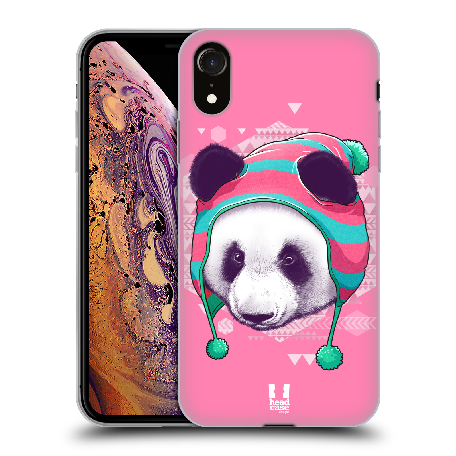 Silikonové pouzdro na mobil Apple iPhone XR - Head Case - HIPSTR PANDA