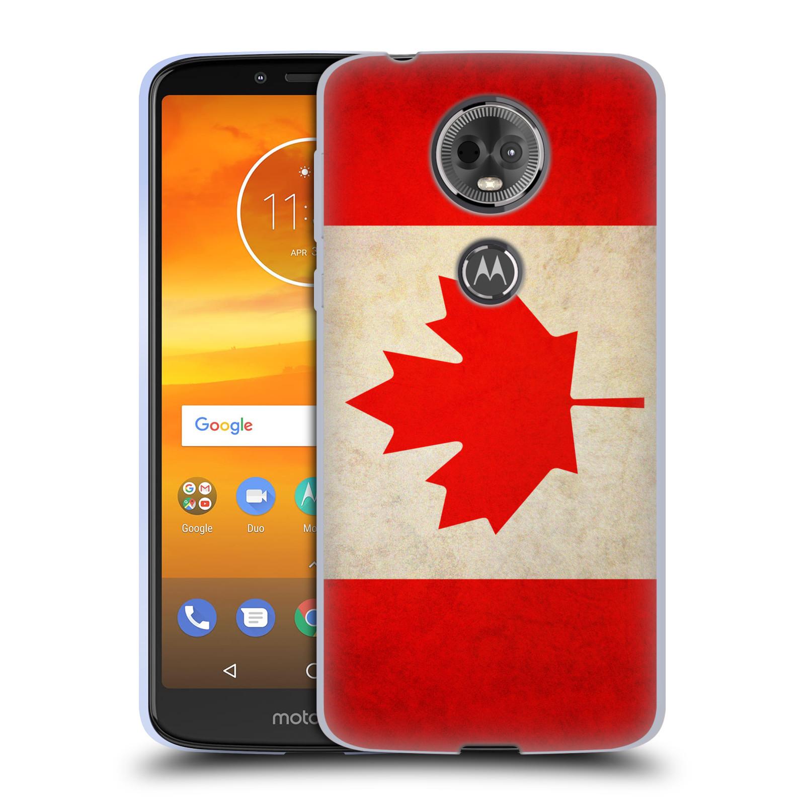 Silikonové pouzdro na mobil Motorola Moto E5 Plus - Head Case - VLAJKA KANADA
