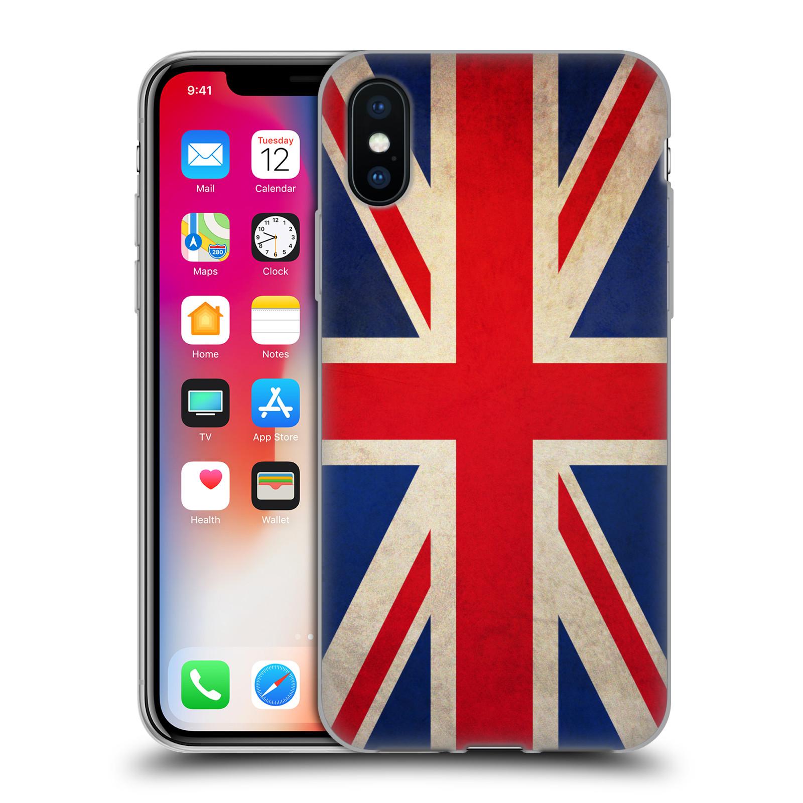 Silikonové pouzdro na mobil Apple iPhone XS - Head Case - VLAJKA VELKÁ BRITÁNIE