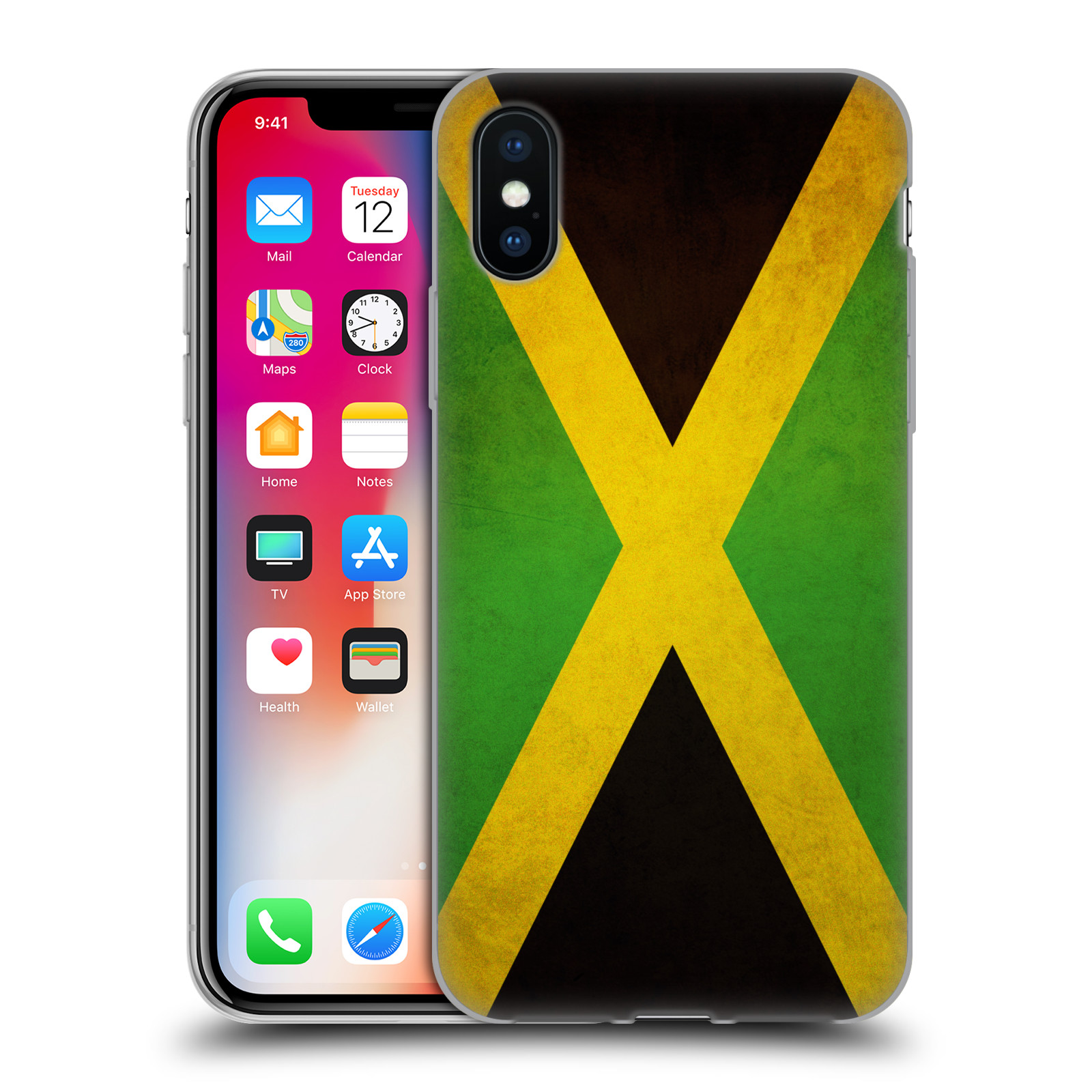 Silikonové pouzdro na mobil Apple iPhone XS - Head Case - VLAJKA JAMAJKA