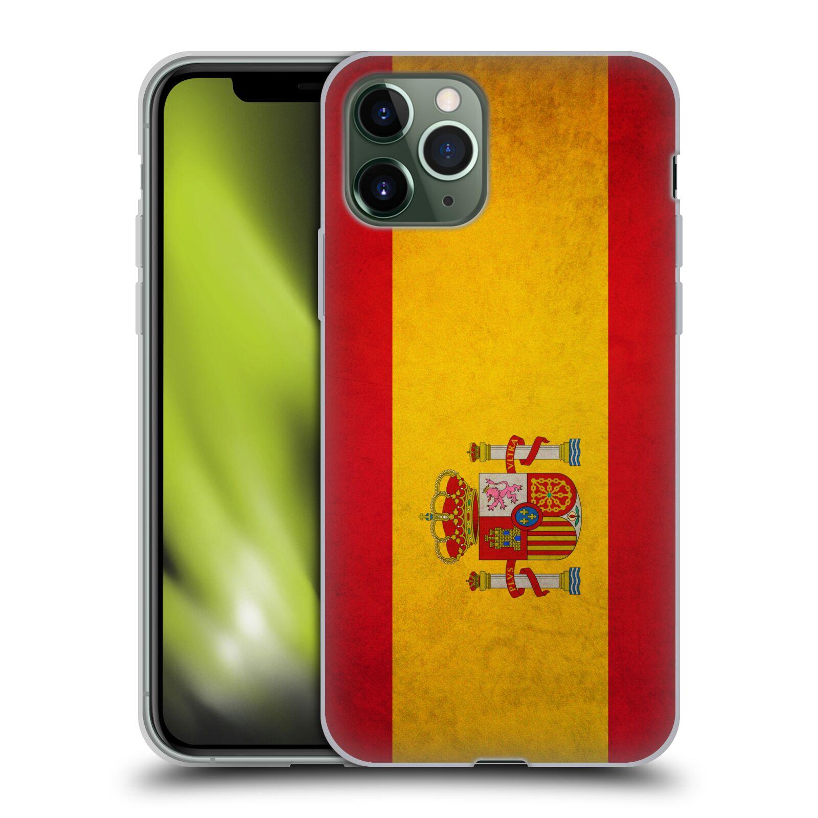 iphone xr kryty guess - Silikonové pouzdro na mobil Apple iPhone 11 Pro - Head Case - VLAJKA ŠPANĚLSKO