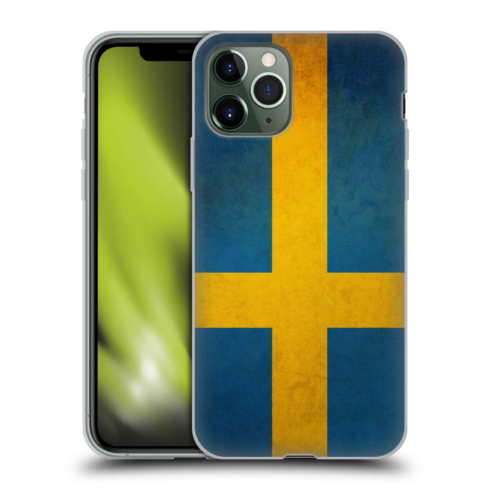 průhledný krytu na iphone 7 | Silikonové pouzdro na mobil Apple iPhone 11 Pro - Head Case - VLAJKA ŠVÉDSKO
