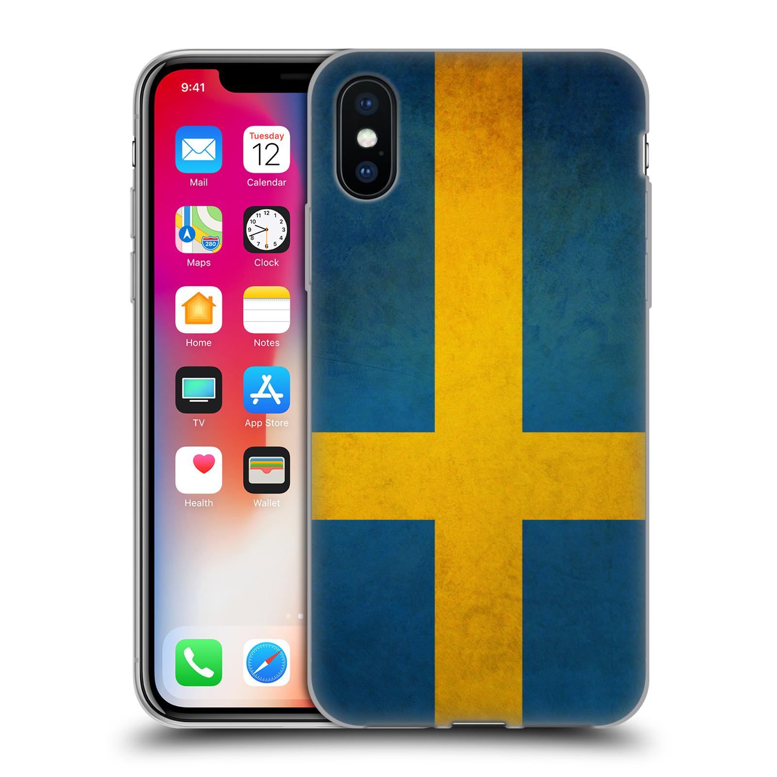 Silikonové pouzdro na mobil Apple iPhone XS - Head Case - VLAJKA ŠVÉDSKO