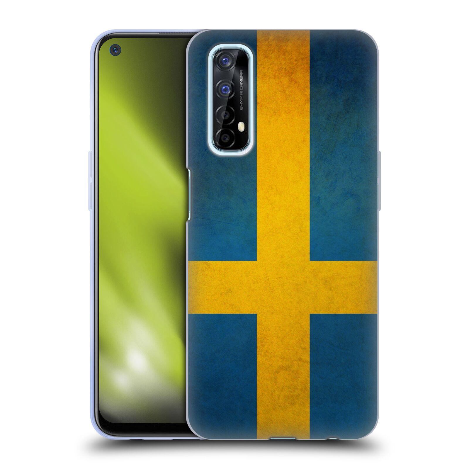 Silikonové pouzdro na mobil Realme 7 - Head Case - VLAJKA ŠVÉDSKO