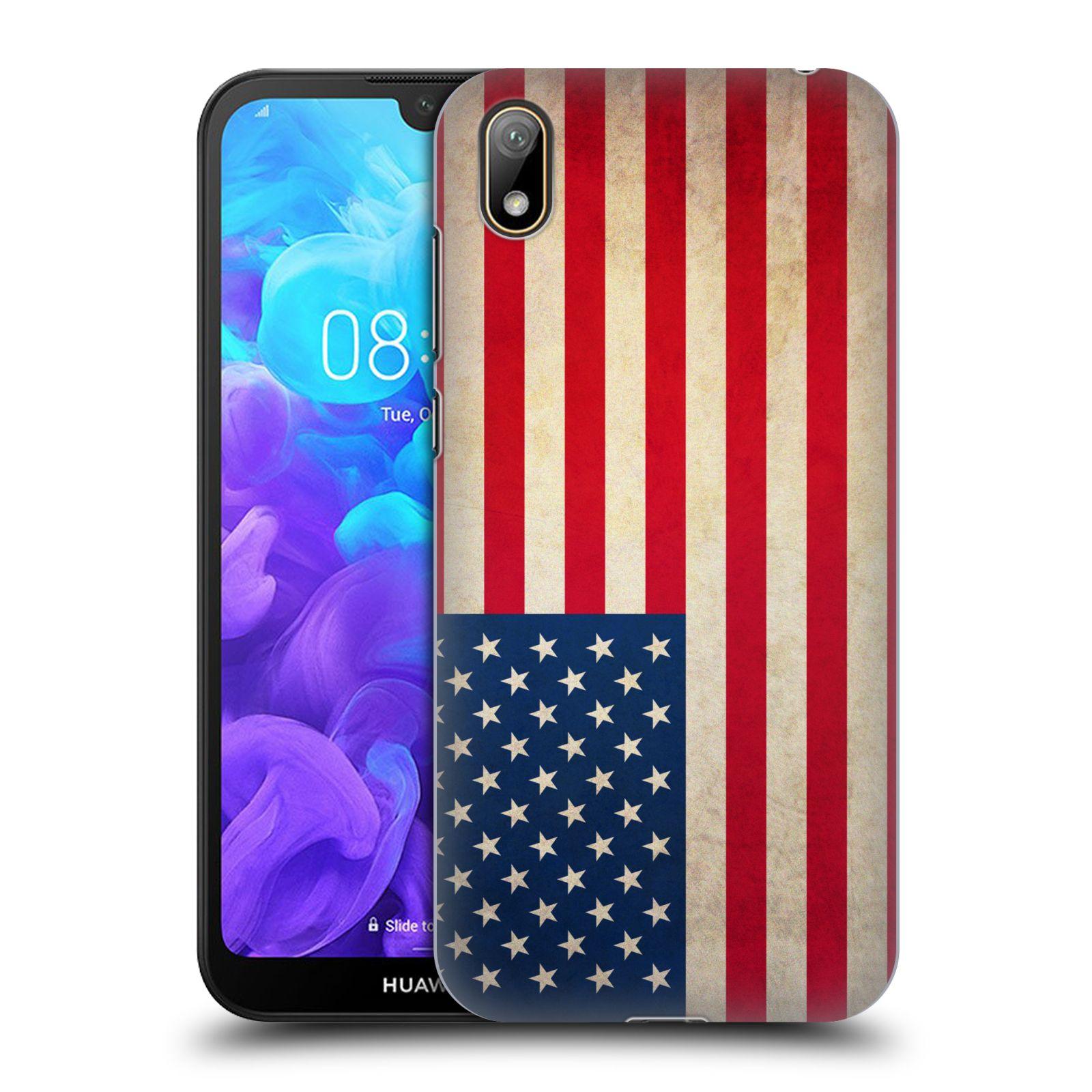 Plastové pouzdro na mobil Honor 8S - Head Case - VLAJKA USA