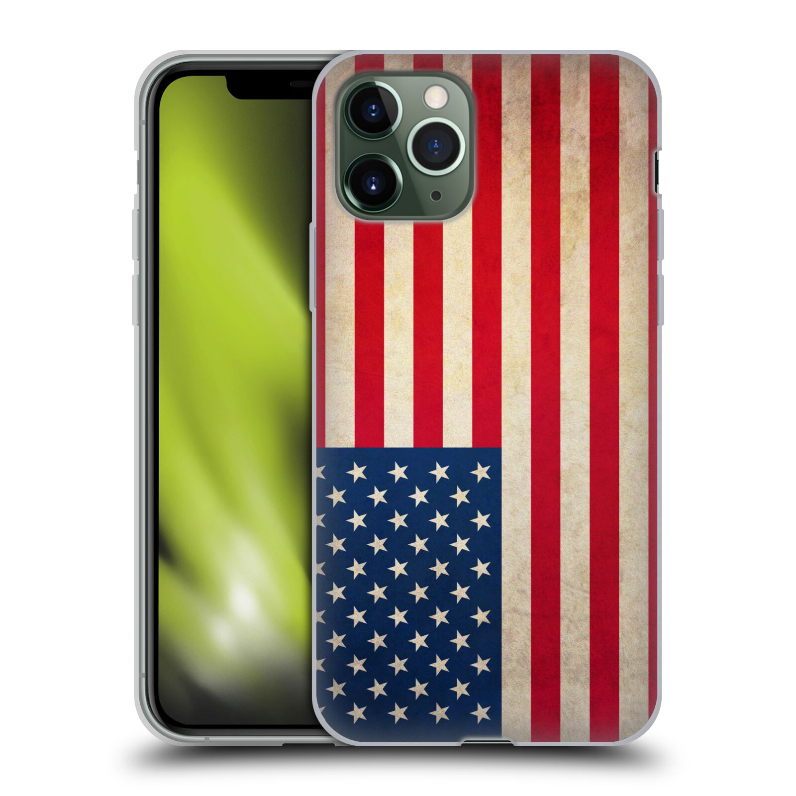 gucci iphone x case online - Silikonové pouzdro na mobil Apple iPhone 11 Pro - Head Case - VLAJKA USA