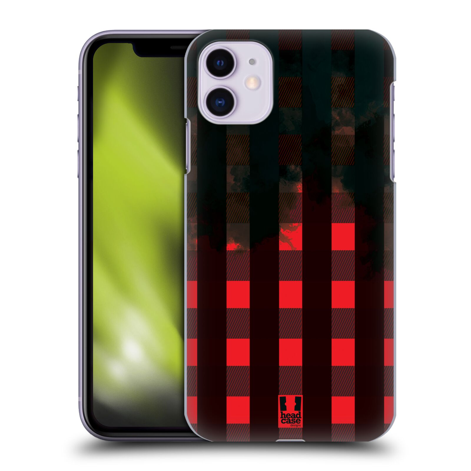 Plastové pouzdro na mobil Apple iPhone 11 - Head Case - FLANEL RED BLACK