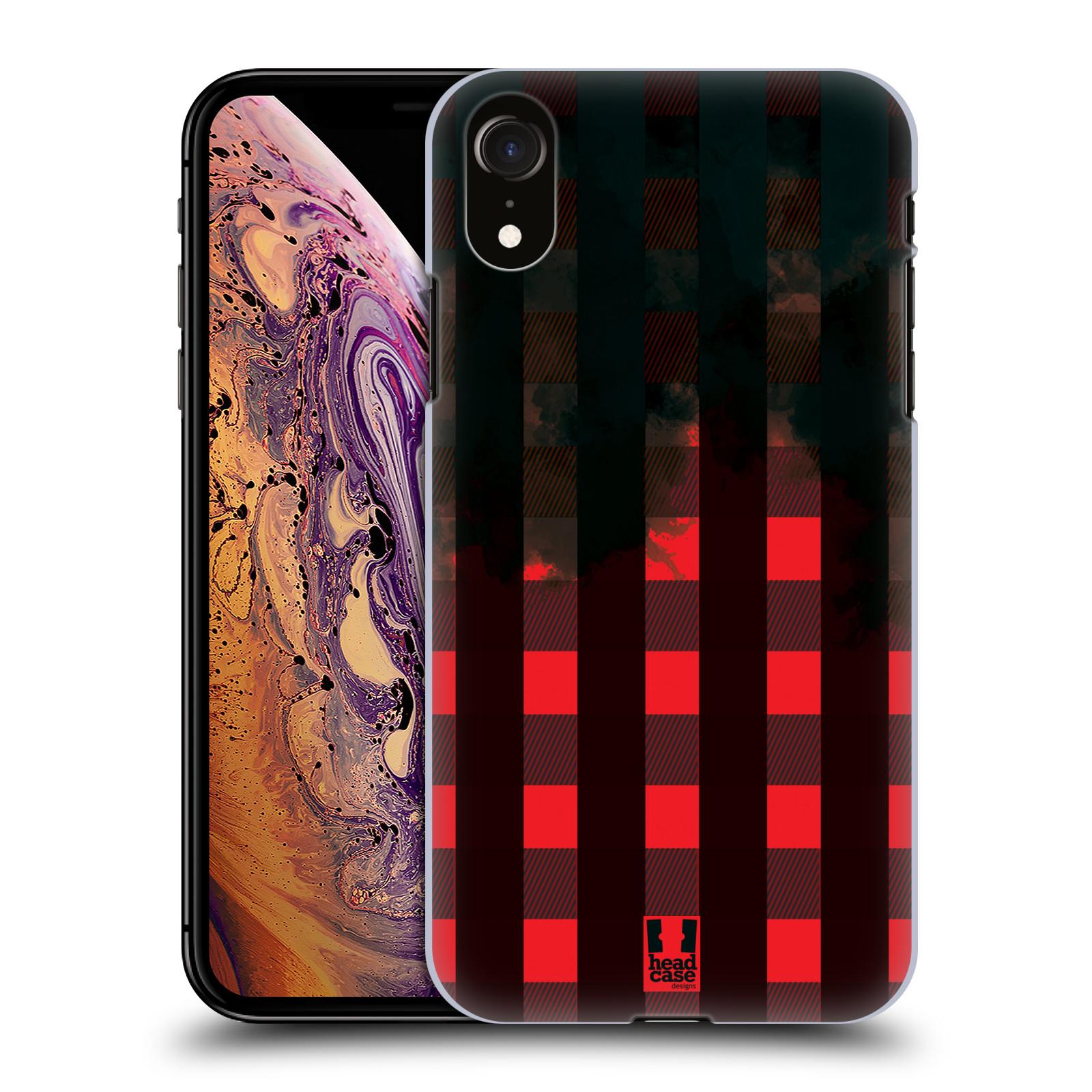 Plastové pouzdro na mobil Apple iPhone XR - Head Case - FLANEL RED BLACK