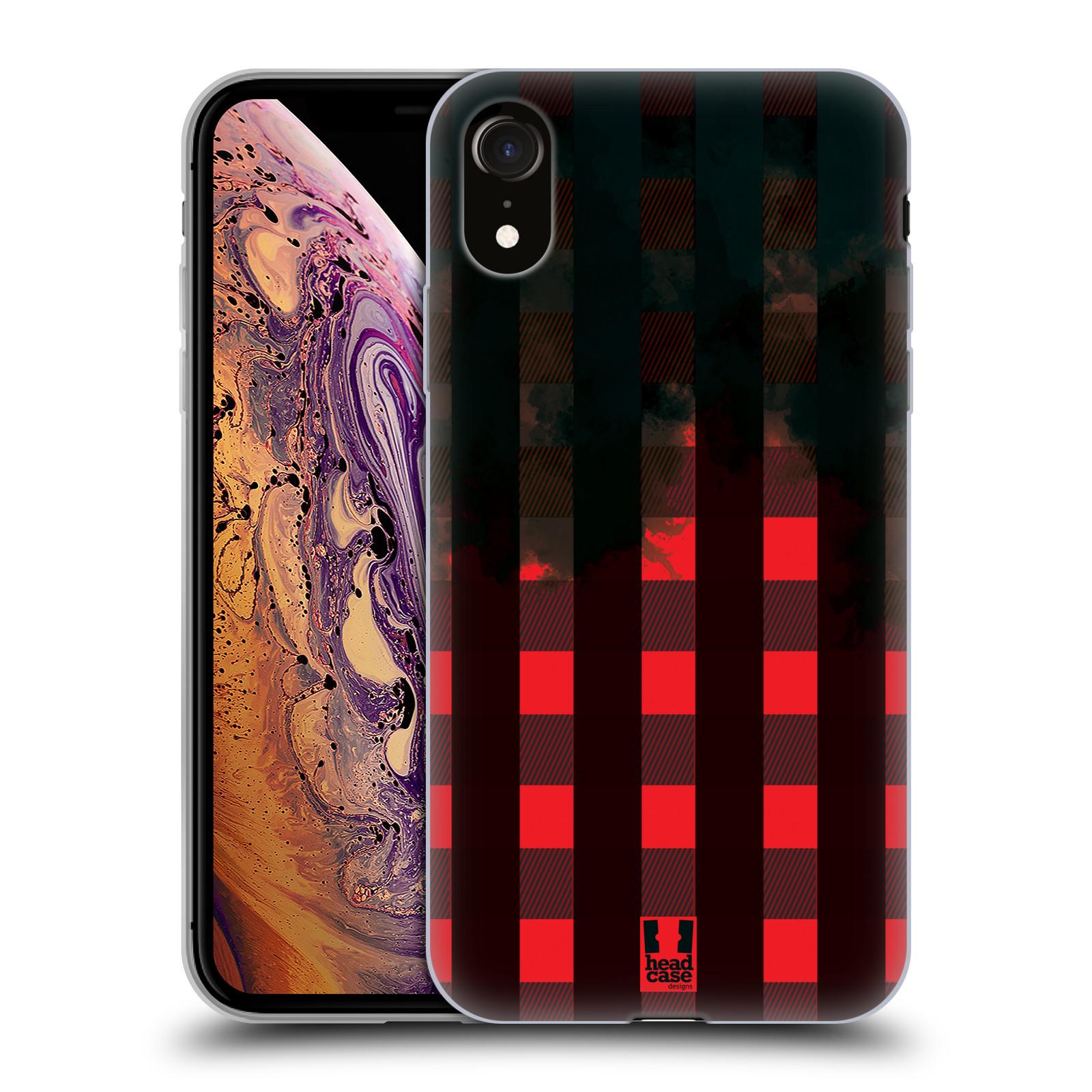 Silikonové pouzdro na mobil Apple iPhone XR - Head Case - FLANEL RED BLACK