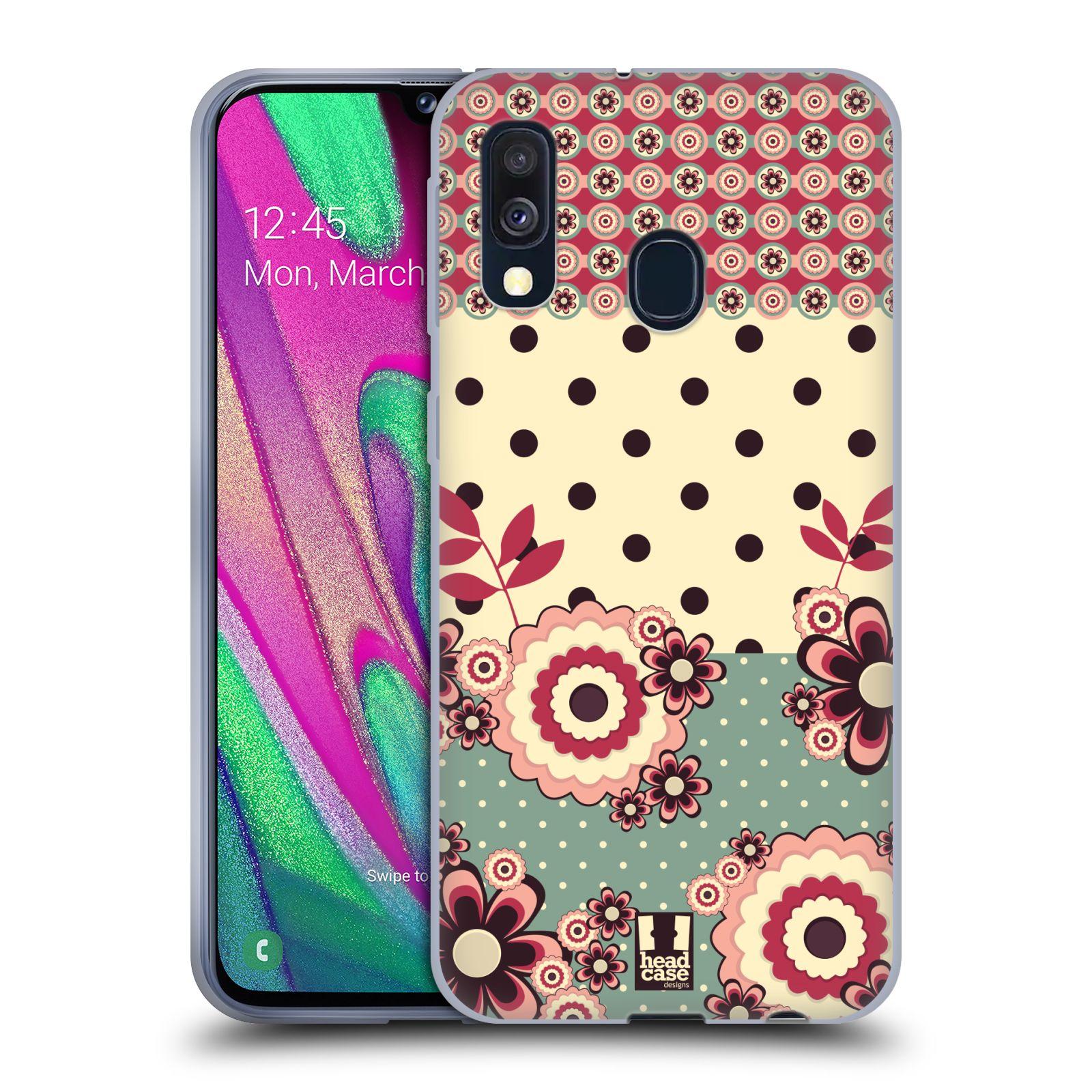 Silikonové pouzdro na mobil Samsung Galaxy A40 - Head Case - KVÍTKA PINK CREAM