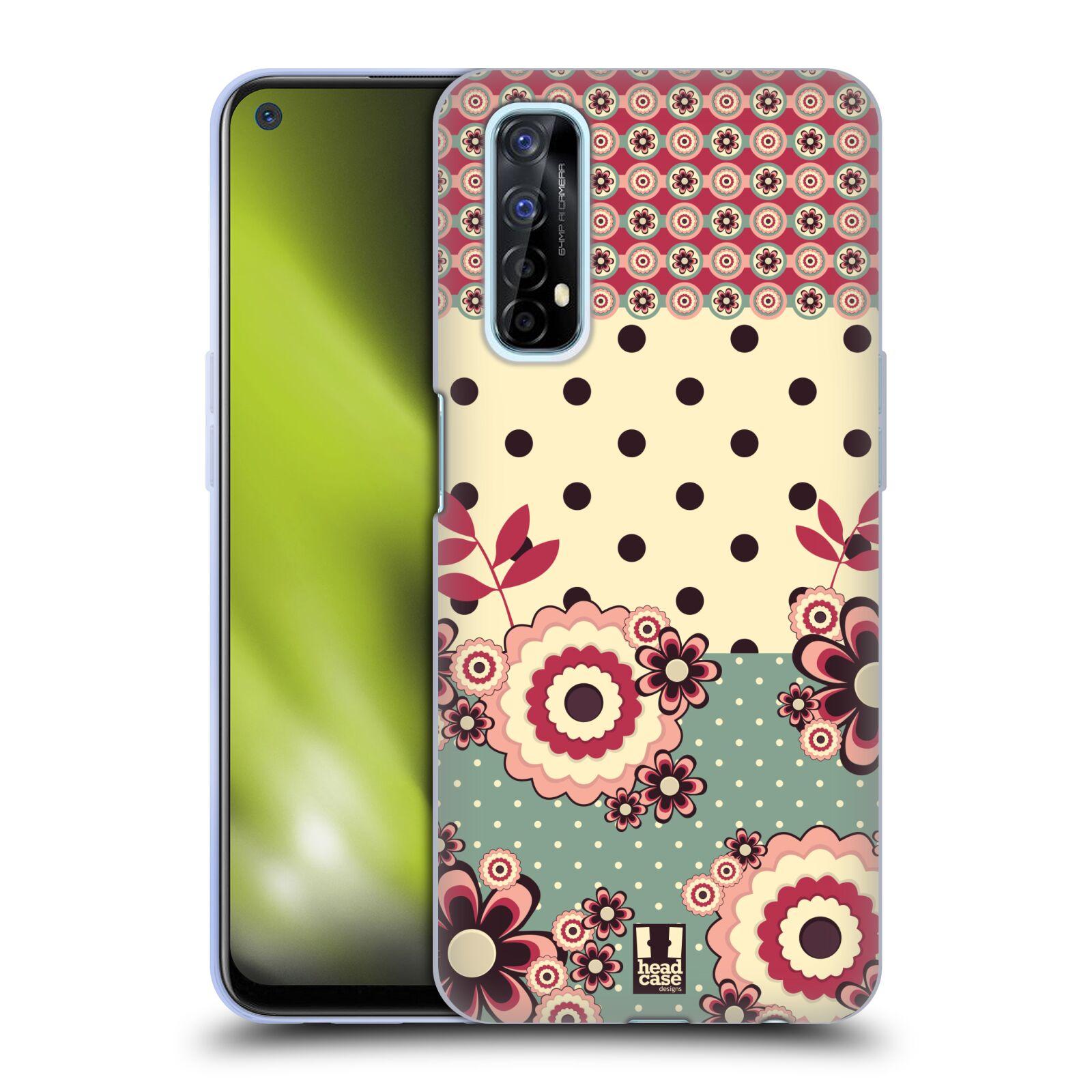 Silikonové pouzdro na mobil Realme 7 - Head Case - KVÍTKA PINK CREAM