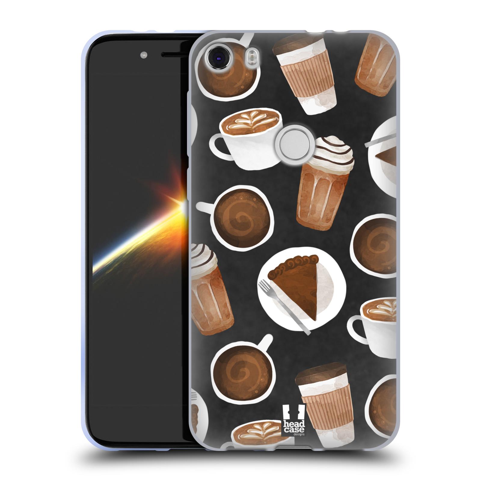 Silikonové pouzdro na mobil Alcatel Idol 5 - Head Case - Kafíčka a dortík