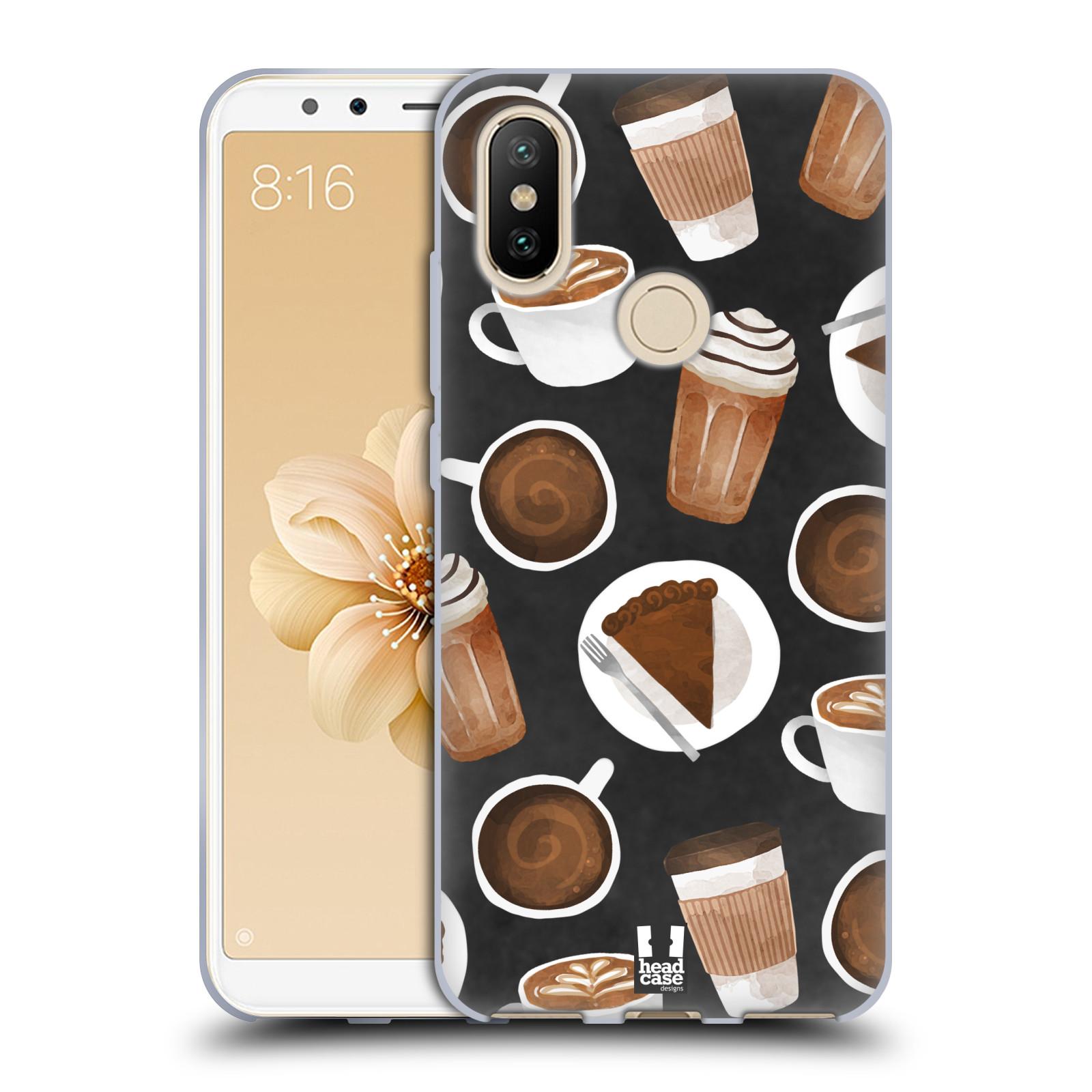 Silikonové pouzdro na mobil Xiaomi Mi A2 - Head Case - Kafíčka a dortík