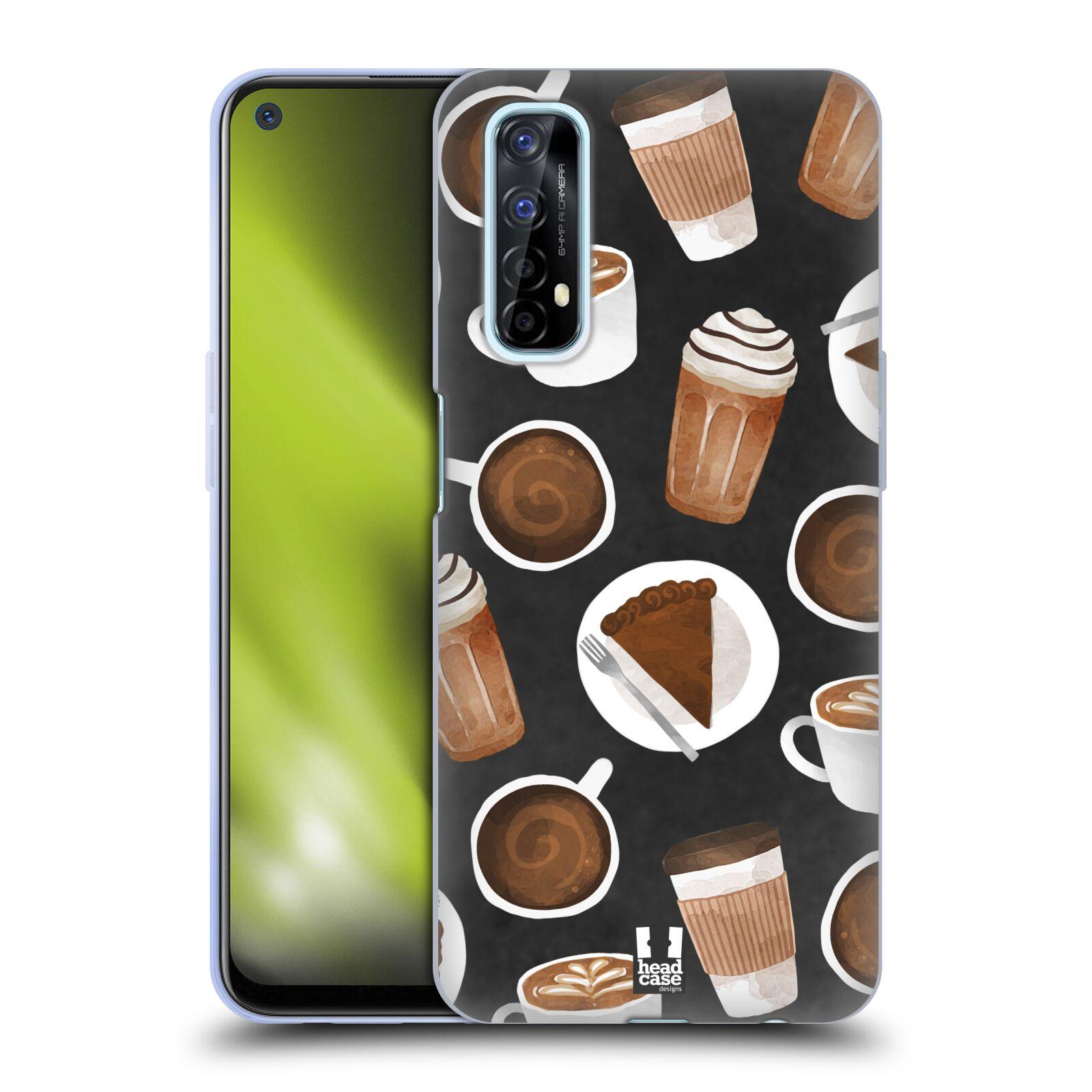 Silikonové pouzdro na mobil Realme 7 - Head Case - Kafíčka a dortík