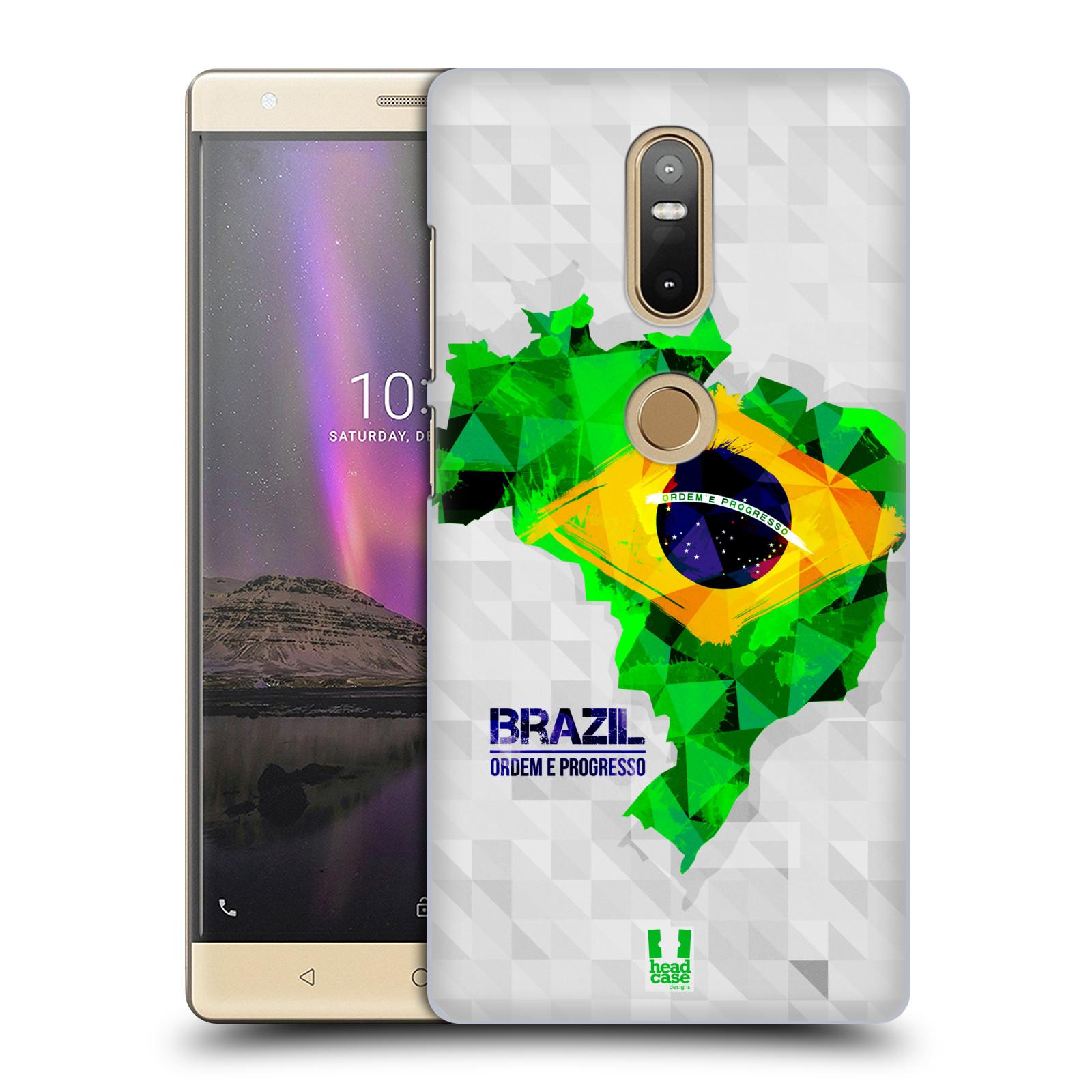 Plastové pouzdro na mobil Lenovo Phab 2 Plus - Head Case - GEOMAPA BRAZÍLIE (Plastový kryt či obal na mobilní telefon Lenovo Phab 2 Plus Dual SIM s motivem GEOMAPA BRAZÍLIE)