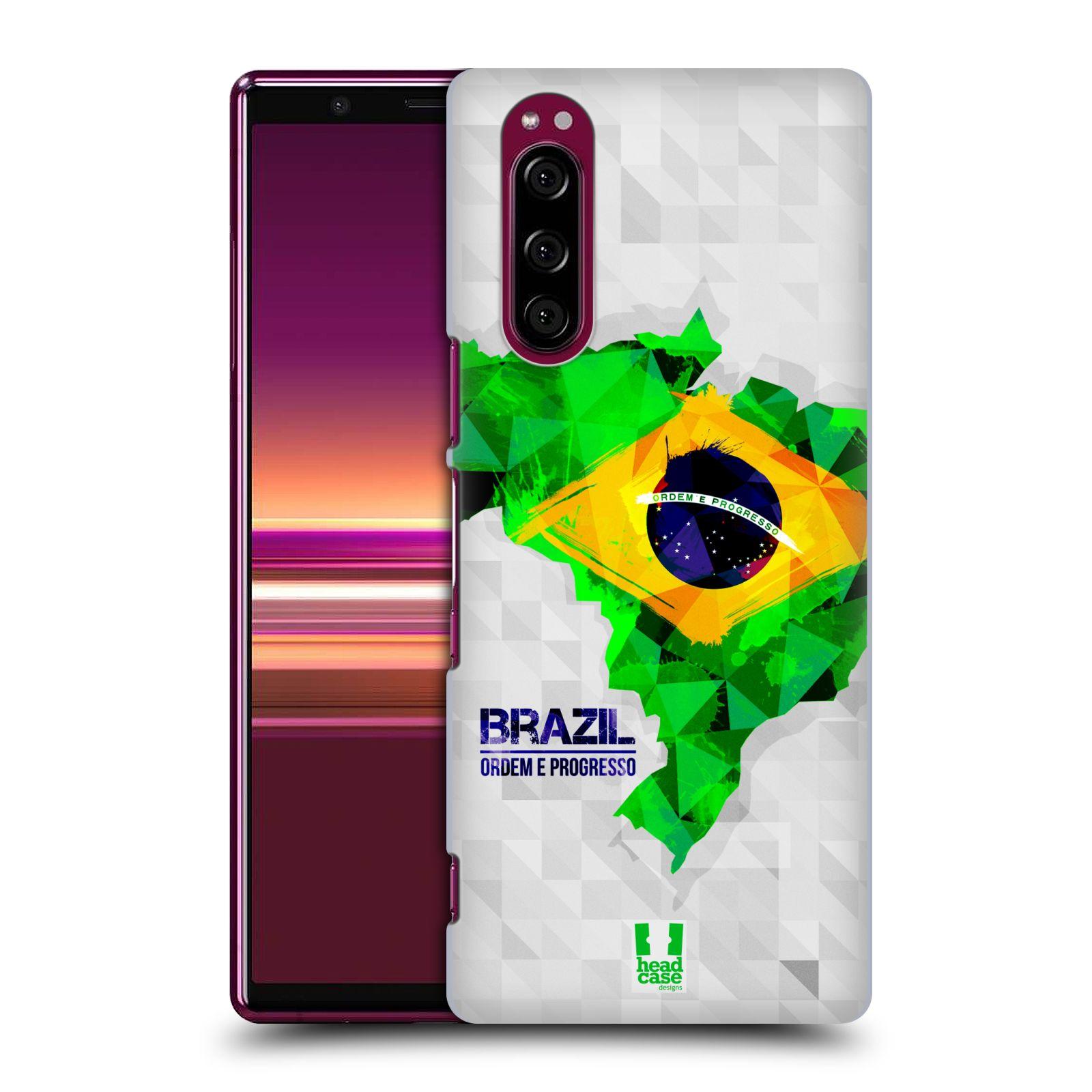 Plastové pouzdro na mobil Sony Xperia 5 - Head Case - GEOMAPA BRAZÍLIE (Plastový kryt, pouzdro, obal na mobilní telefon Sony Xperia 5 Dual SIM (J9210) s motivem GEOMAPA BRAZÍLIE)