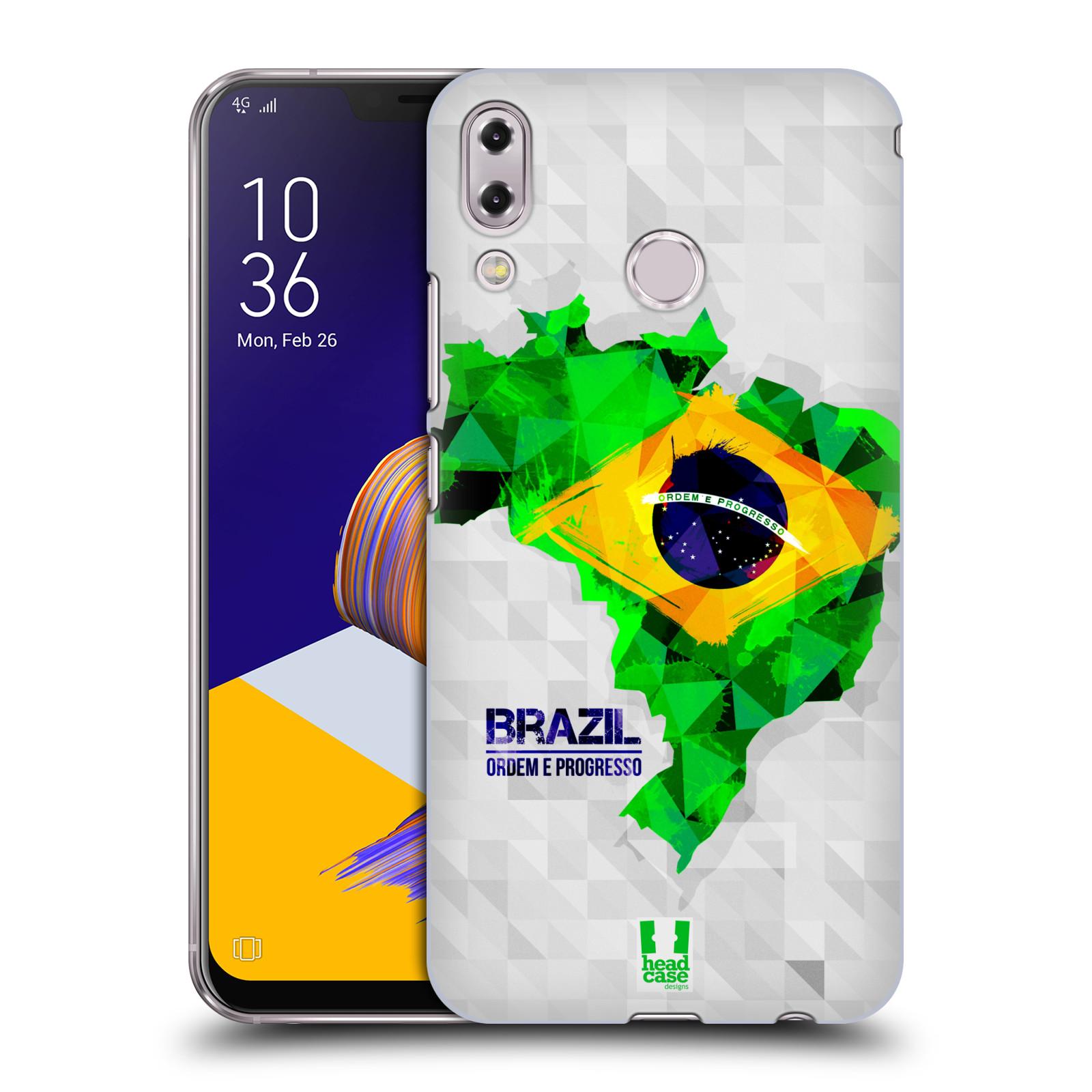 Plastové pouzdro na mobil Asus Zenfone 5z ZS620KL - Head Case - GEOMAPA BRAZÍLIE (Plastový kryt či obal na mobilní telefon Asus Zenfone 5z (ZS620KL) s motivem GEOMAPA BRAZÍLIE)