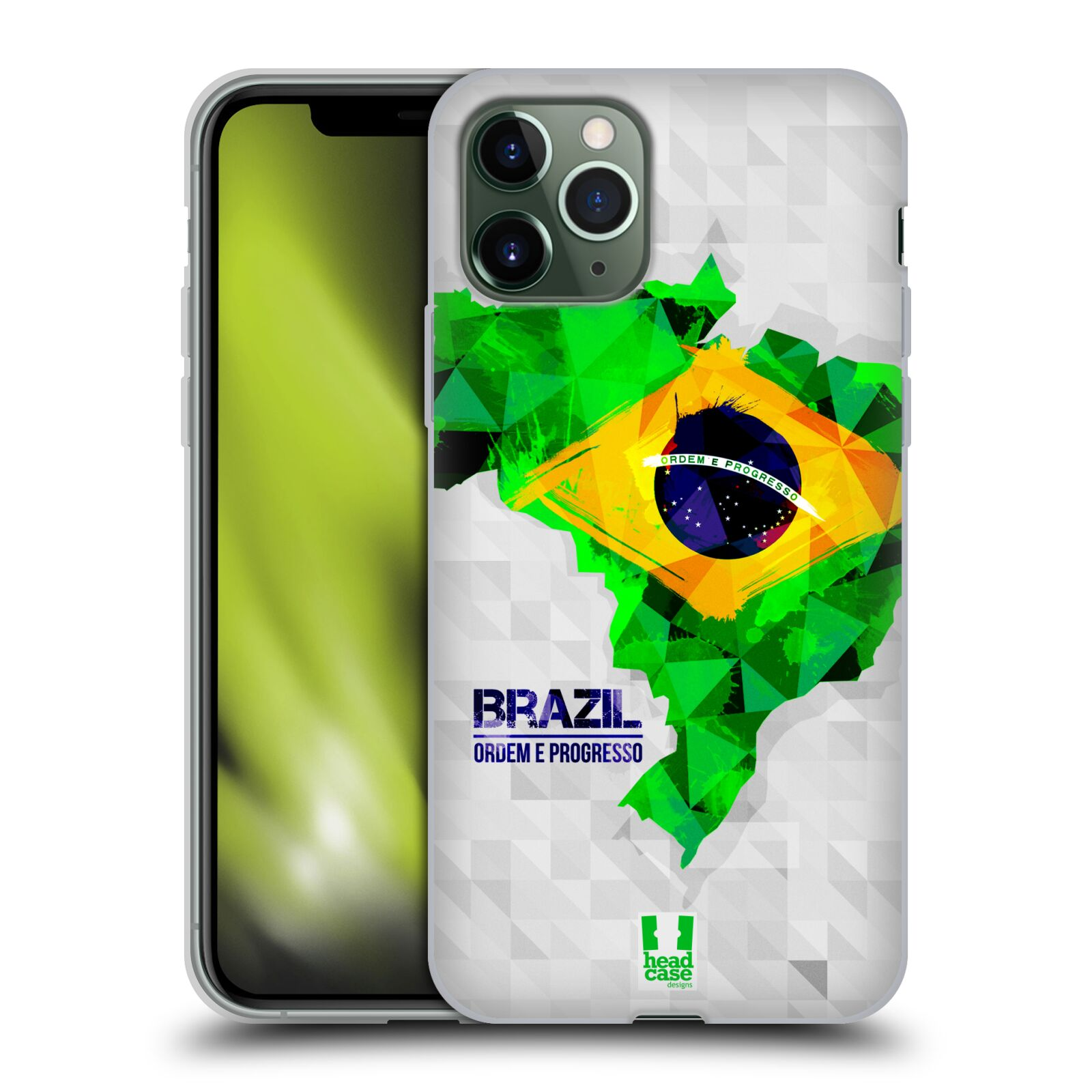 gucci iphone x plus | Silikonové pouzdro na mobil Apple iPhone 11 Pro - Head Case - GEOMAPA BRAZÍLIE