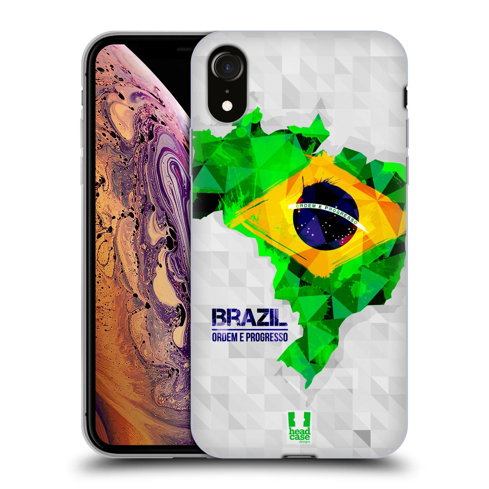 Silikonové pouzdro na mobil Apple iPhone XR - Head Case - GEOMAPA BRAZÍLIE